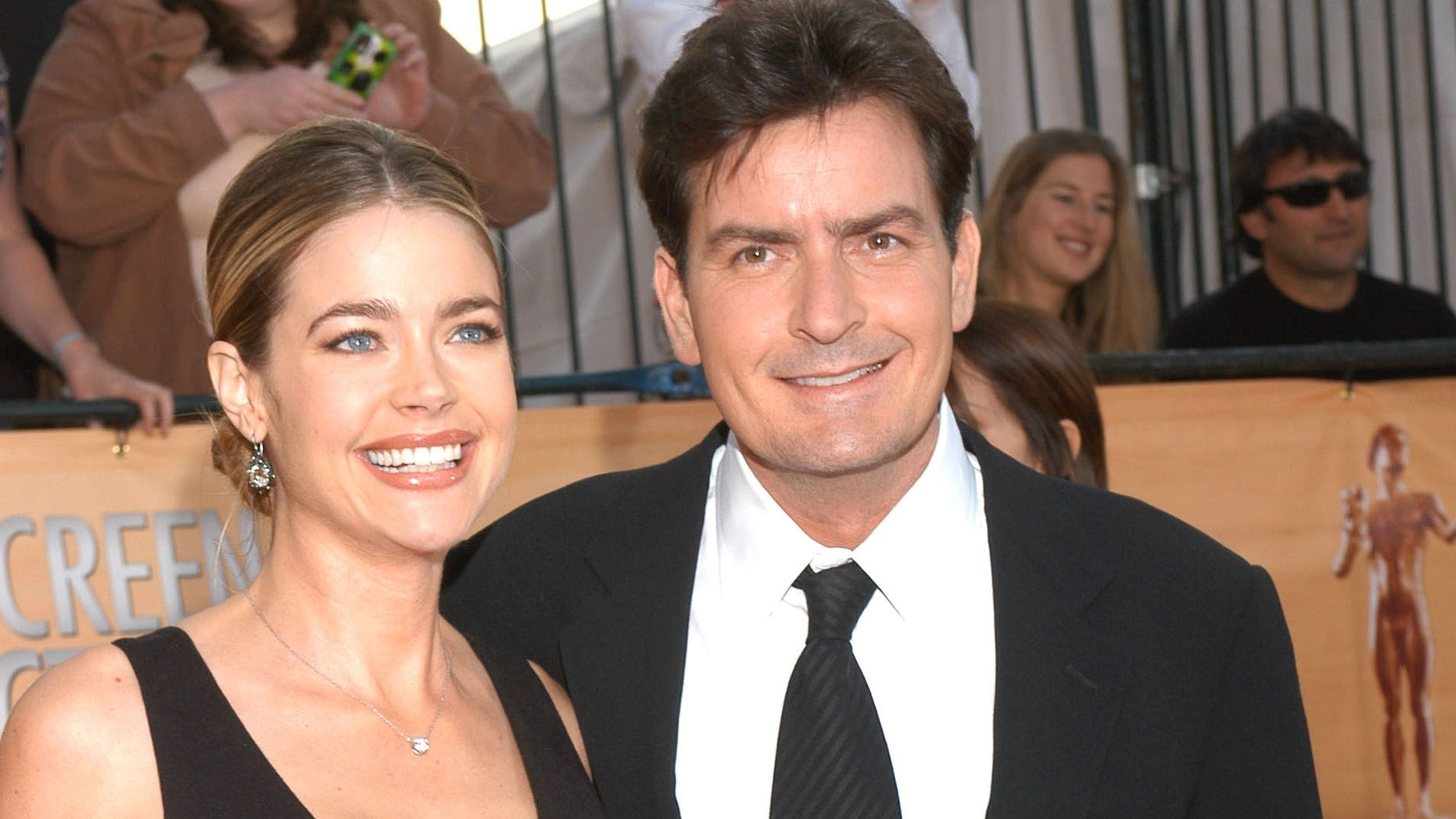 Denise Richards and Charlie Sheen in a February, 2005 file photo.