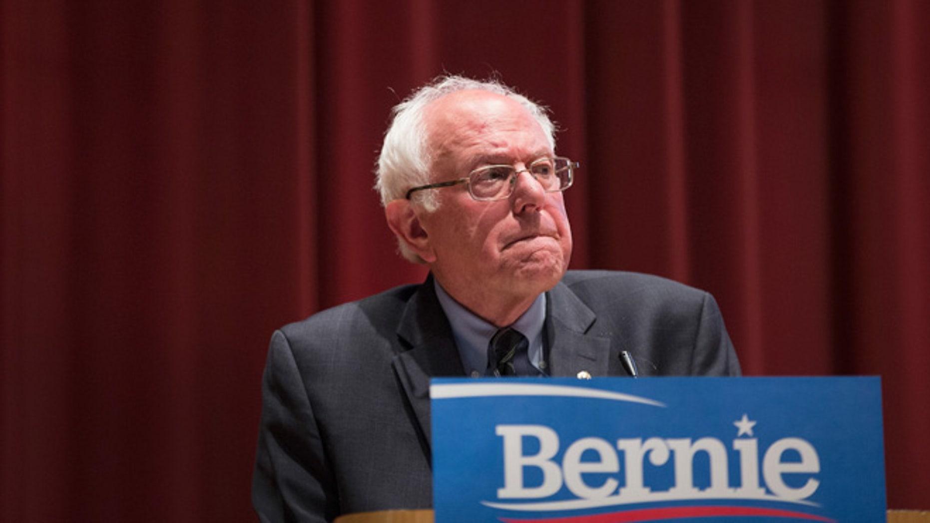 Sen. Bernie Sanders  at Drake University on June 12, 2015 in Des Moines, Iowa.