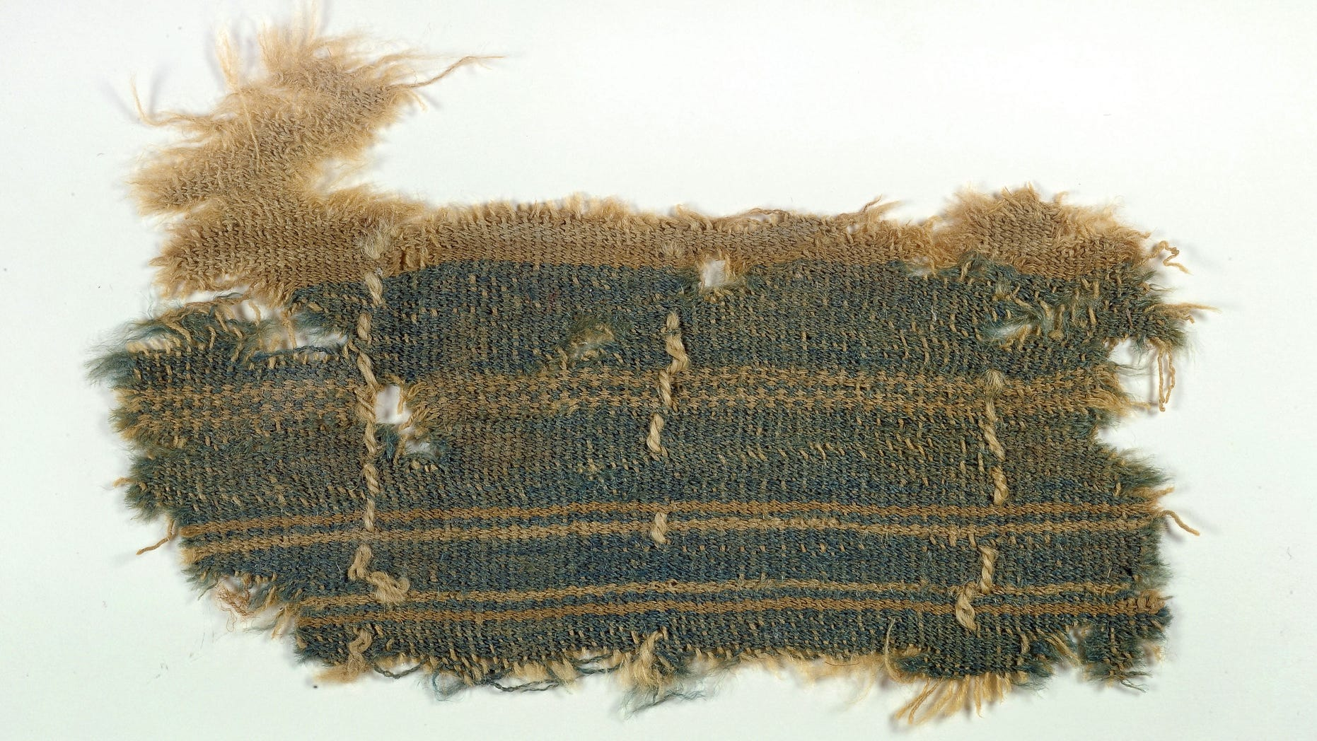 Dec. 31, 2013: A nearly 2,000-year old textile that appears to contain a mysterious blue color described in the Bible, one of the few remnants of the ancient color ever discovered.