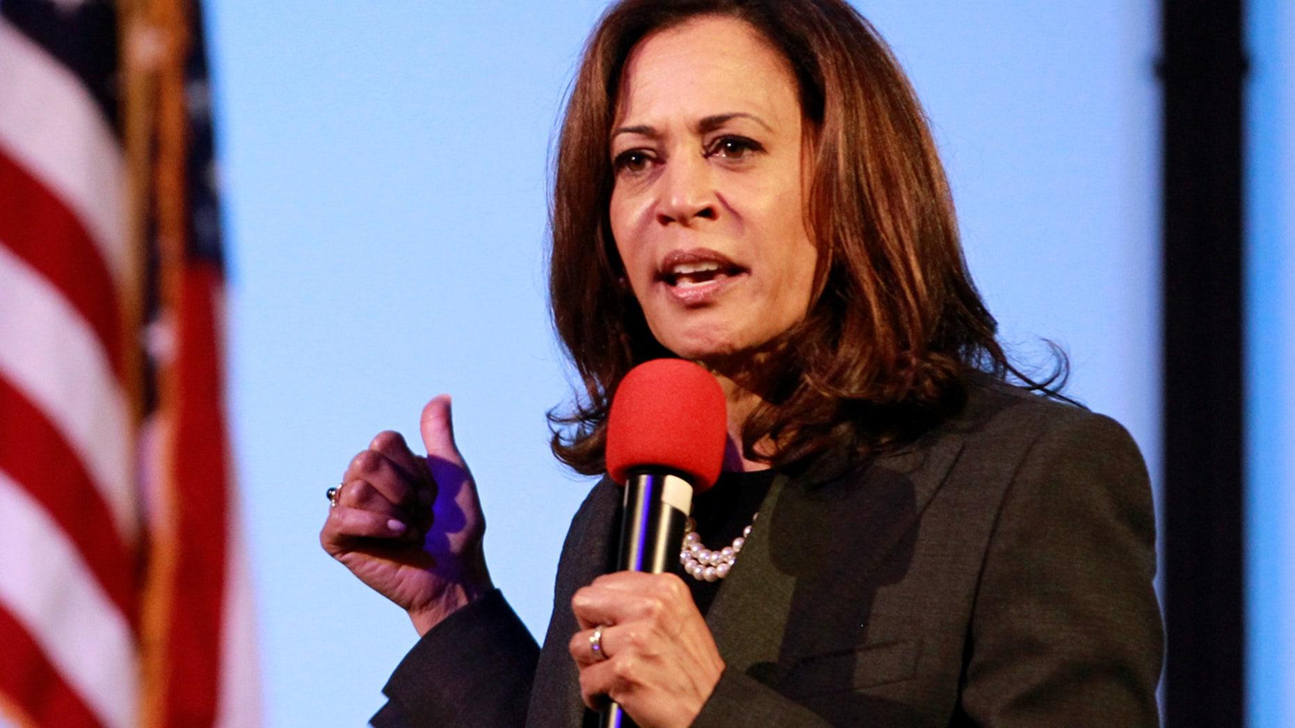 APRIL 5: Sen. Kamala Harris, D-Calif., holds a town hall meeting in Sacramento.