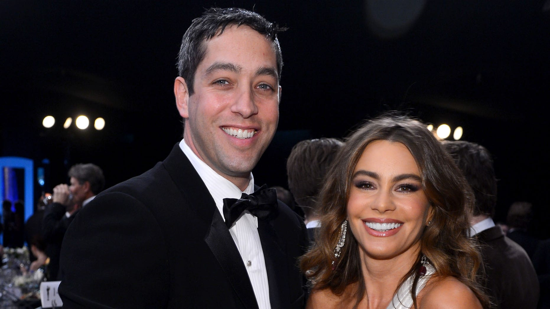 LOS ANGELES, CA - JANUARY 27:  Actress Sofia Vergara (R) and Nick Loeb attend the 19th Annual Screen Actors Guild Awards held at The Shrine Auditorium on January 27, 2013 in Los Angeles, California.  (Photo by Mark Davis/Getty Images)