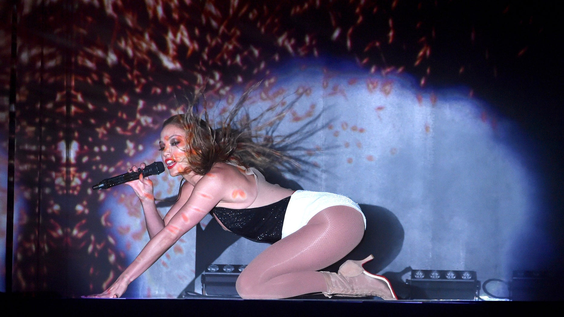 Jennifer Lopez at the 2014 American Music Awards at Nokia Theatre L.A. Live on November 23, 2014.