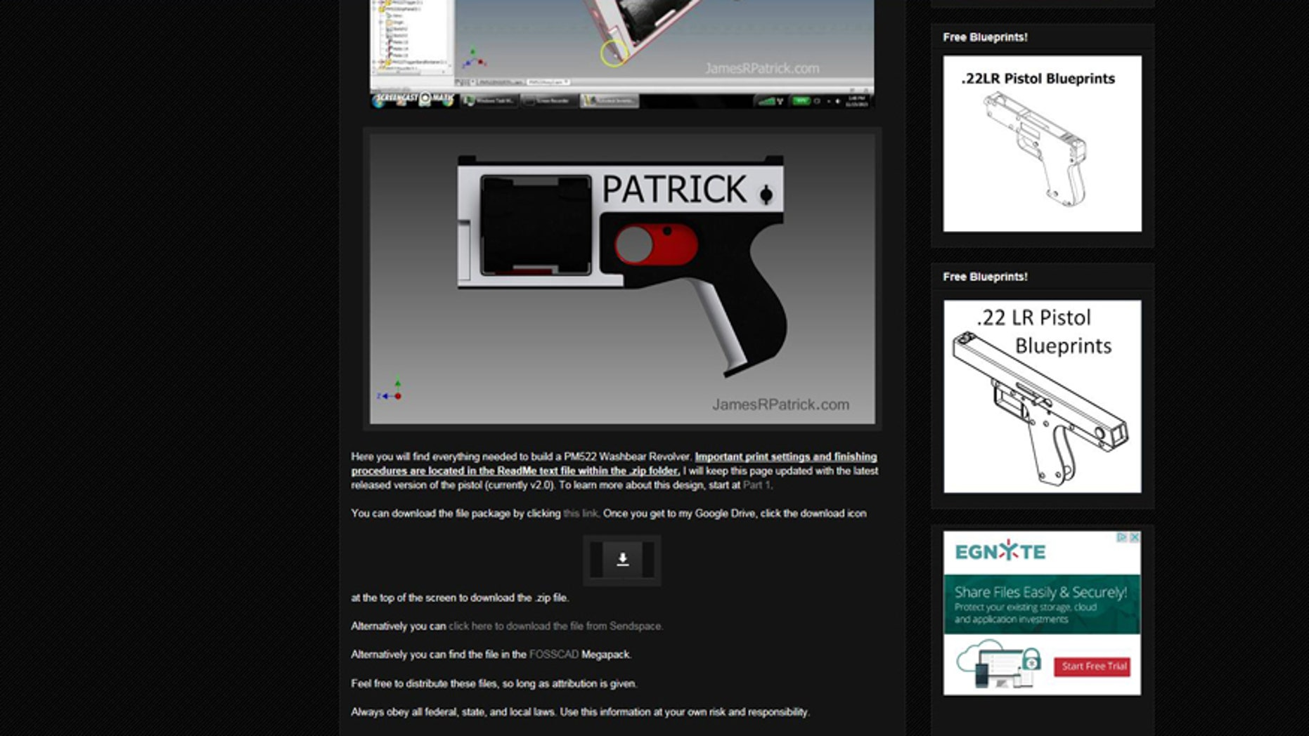 (Screenshot from www.jamesrpatrick.com)
