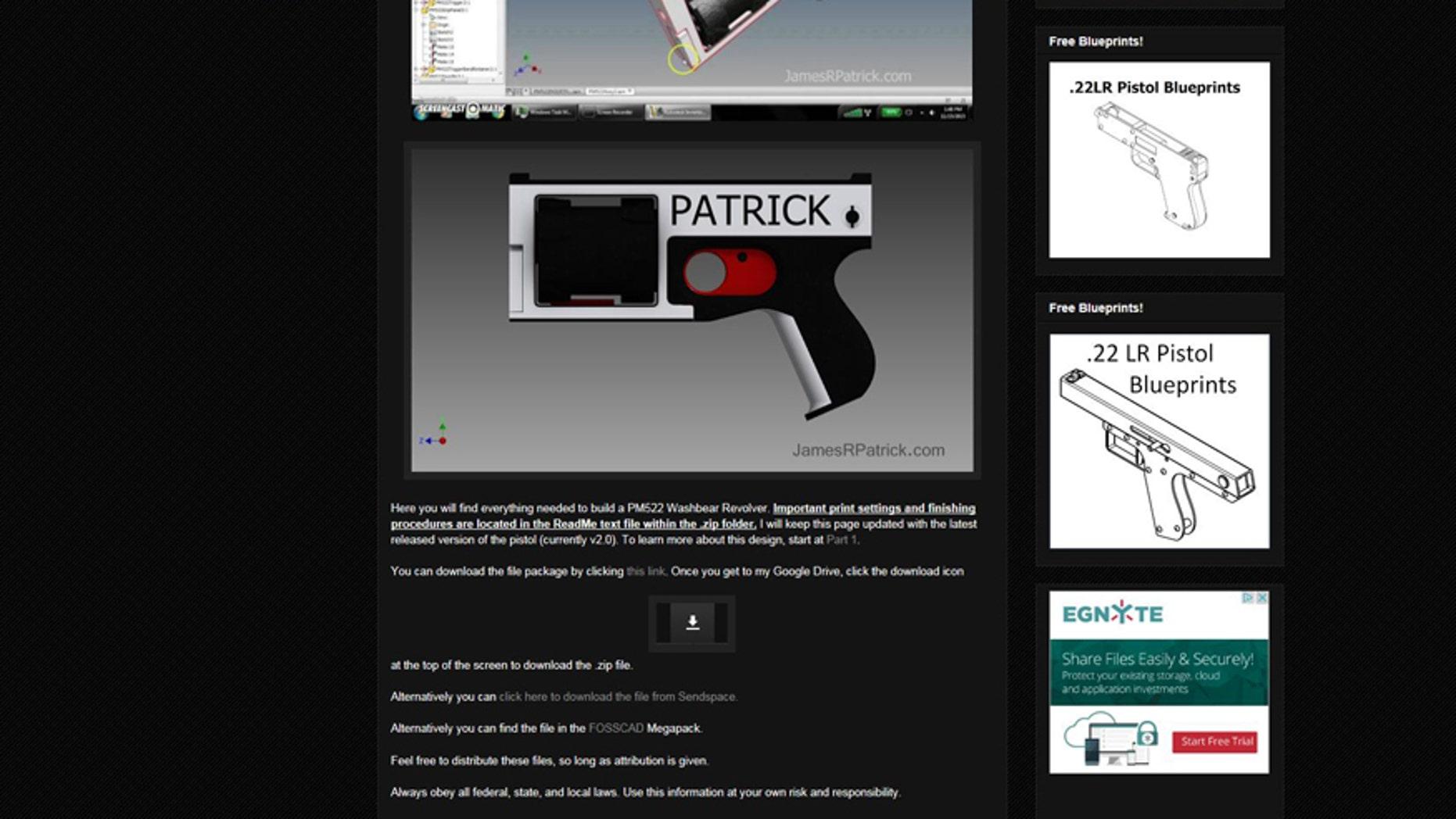 (Screenshot from www.jamesrpatrick.com)