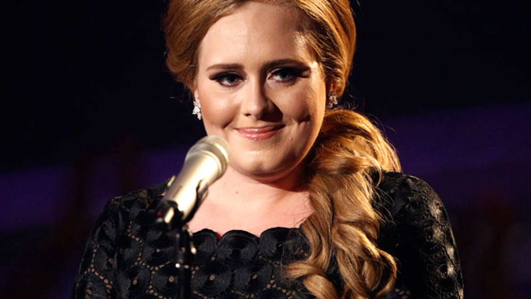 In this Aug. 28, 2011 file photo, singer Adele is shown at the MTV Video Music Awards in Los Angeles.