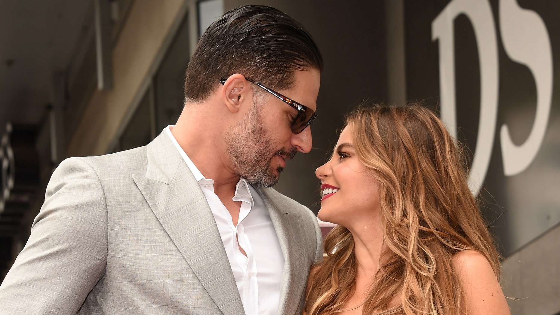 Joe Manganiello with Sofia Vergara as she is honored on The Hollywood Walk Of Fame on May 7, 2015.