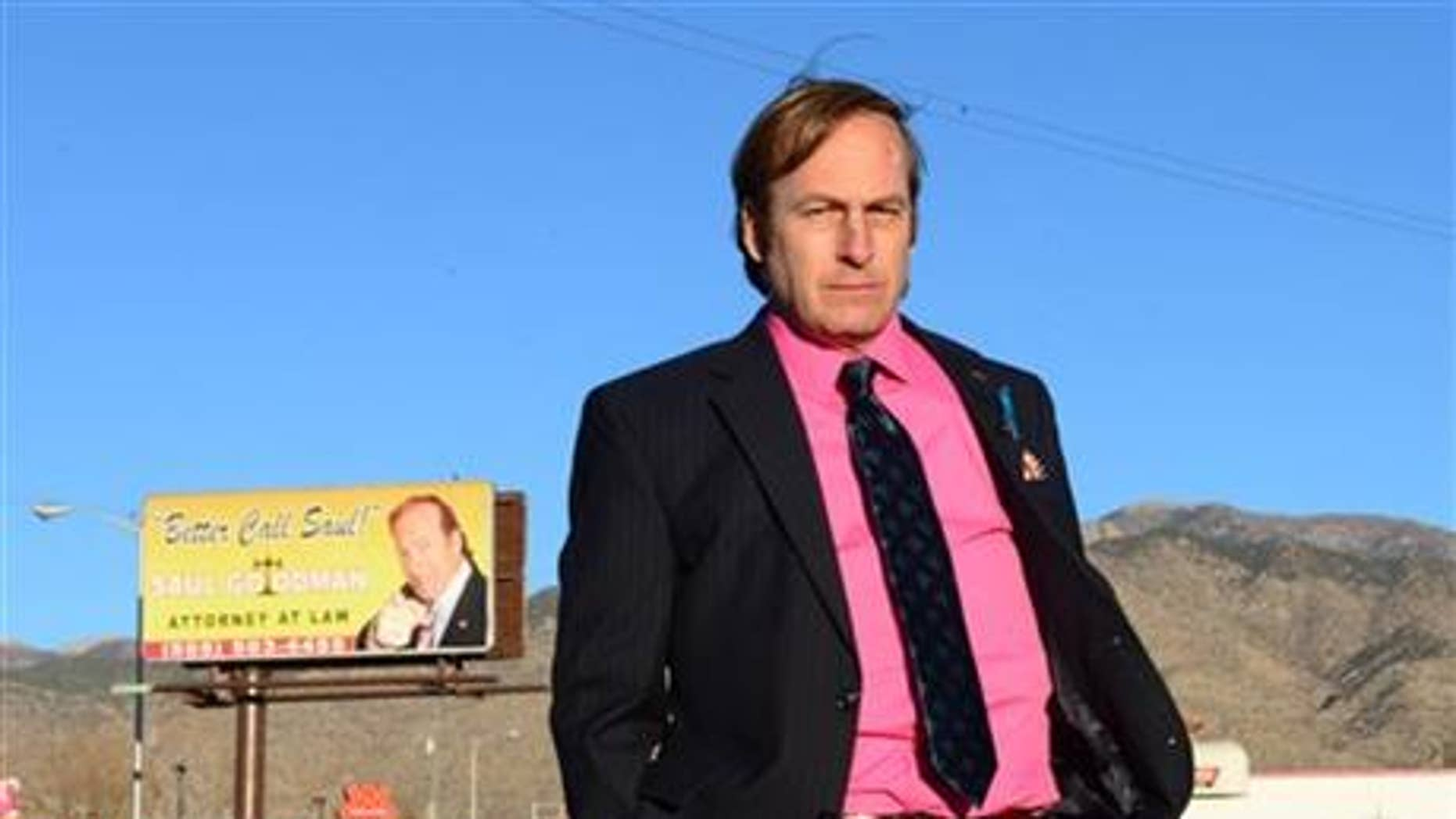 """Bob Odenkirk (Saul Goodman) in a scene from the final season of """"Breaking Bad."""""""