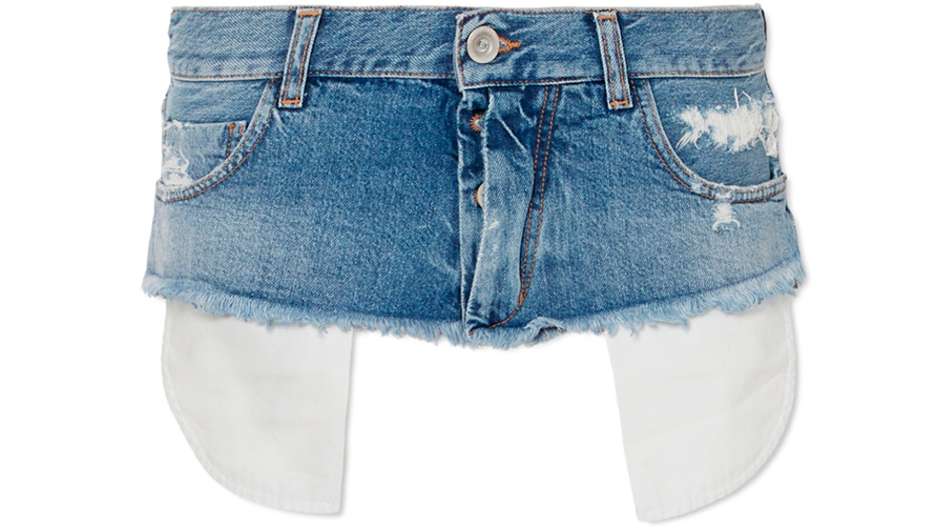 """Less is more when it comes to the price tag on this tiny denim """"waist belt."""""""
