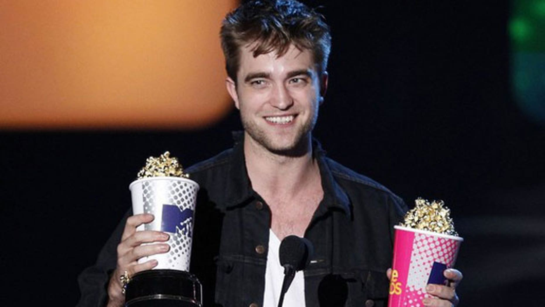 Robert Pattinson, shown here at an MTV Awards ceremony.