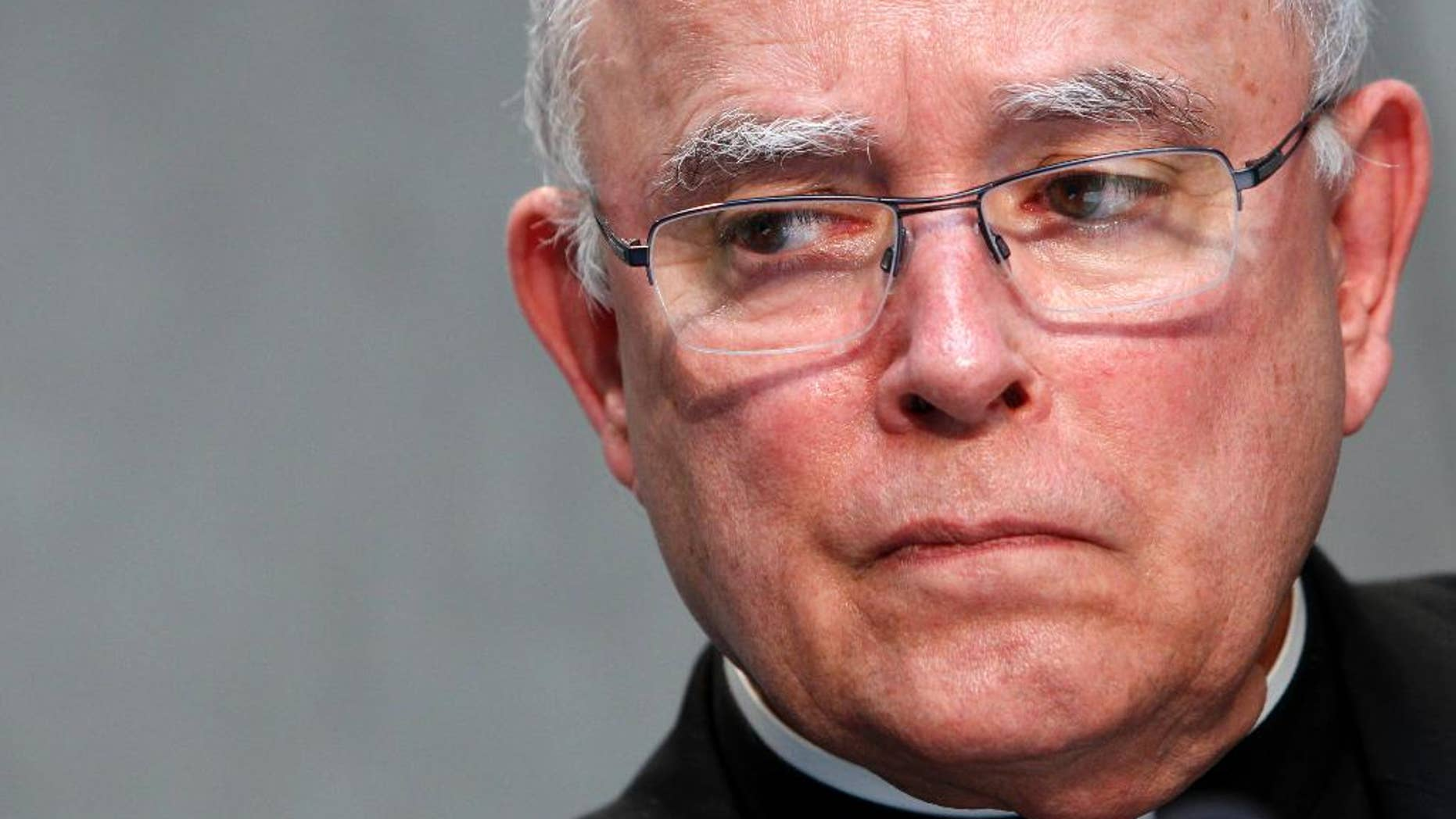 """FILE - In this June 25, 2015, file photo, Philadelphia's Archbishop Charles Joseph Chaput attends a news conference at the Vatican. The leader of the Roman Catholic Archdiocese of Philadelphia said divorced and remarried parishioners should abstain from sex and live """"like brother and sister"""" if they want to receive Holy Communion and haven't had their previous marriage annulled. Chaput issued a new set of pastoral guidelines for clergy and other leaders in the archdiocese that went into effect July 1, 2016. (AP Photo/Riccardo De Luca, File)"""