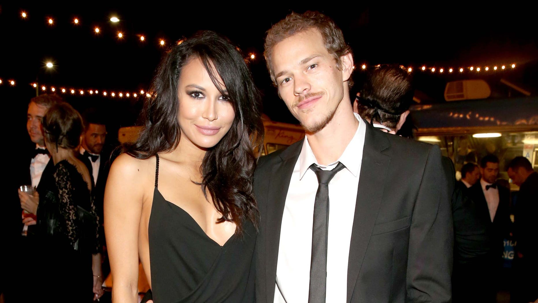 Actors Naya Rivera (L) and Ryan Dorsey at The UNICEF Dia de los Muertos Black & White Masquerade Ball at Hollywood Forever Cemetery benefiting UNICEF's education programs for Syrian children on October 30, 2014 in Los Angeles, California.