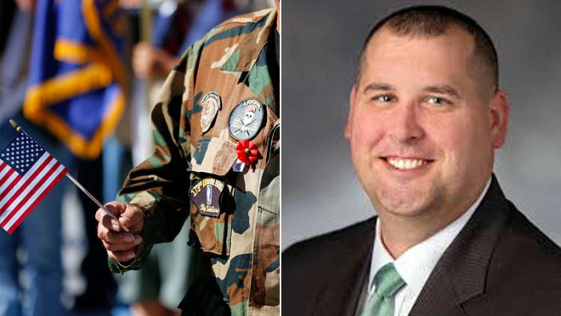This composite image shows Washington state Rep. Graham Hunt, right.