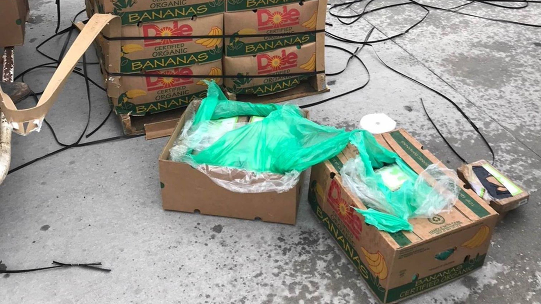 Authorities discovered nearly $18 million worth of cocaine underneath bundles of bananas on Friday in Texas.
