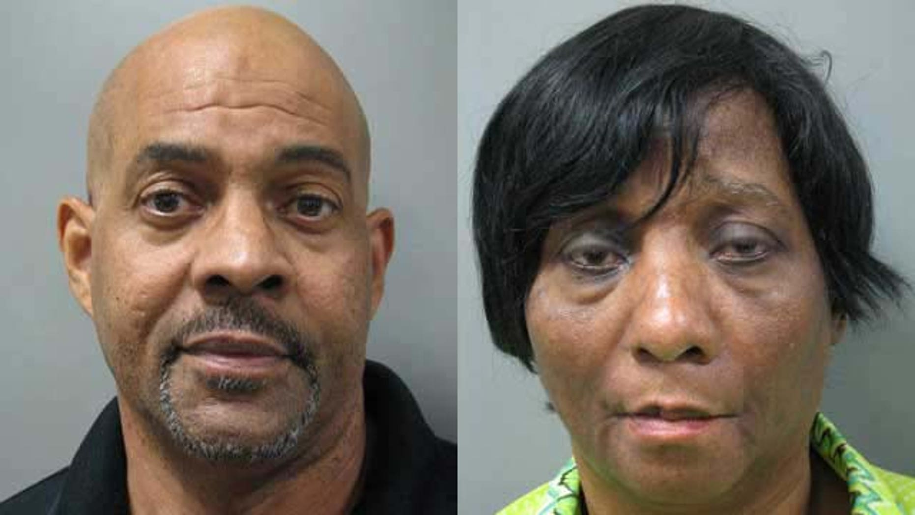 These photos released July 21, 2014 show John and Janice Land, who are accused of keeping their autistic twin sons padlocked in a basement room of their house in Rockville, Md. every night for six years (Montgomery County Police Department)