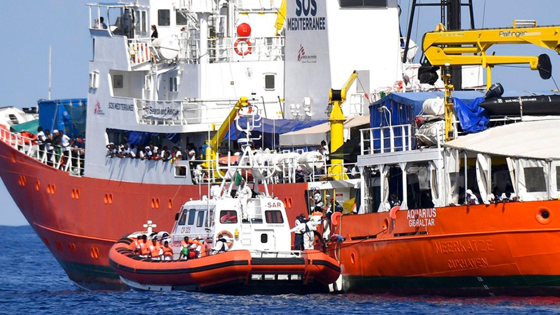 "Italy turned away the French NGO ""SOS Mediterranee"" Aquarius ship last week."