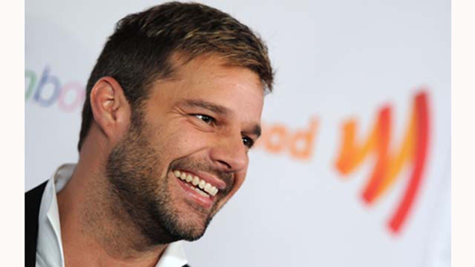 March 19, 2011: Singer Ricky Martin attends the 22nd Annual GLAAD Media Awards at The New York Marriott Marquis in New York City.