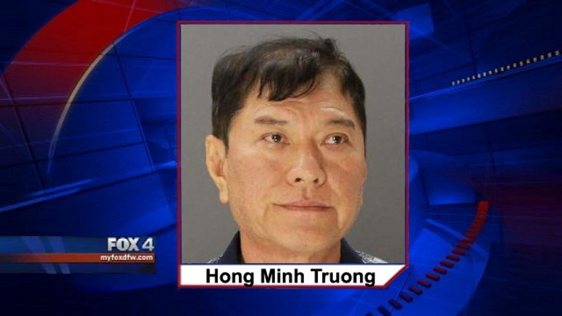 This photo shows Hong Minh Truong, who was arrested July 28, 2014 and accused of sending hundreds of threatening letters containing a hoax white powder (MyFoxDFW.com)