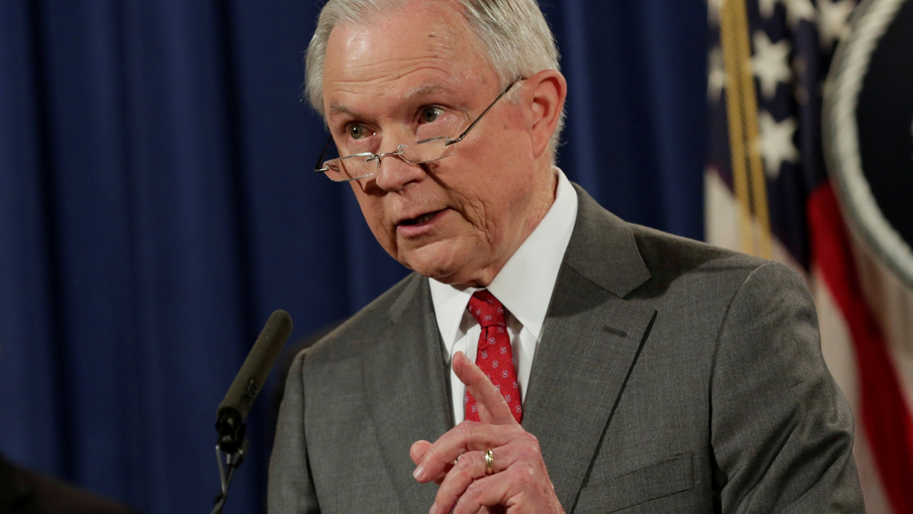 FILE: Attorney General Jeff Sessions has spoken out against MS-13 and promised a new push to combat the violent gang.