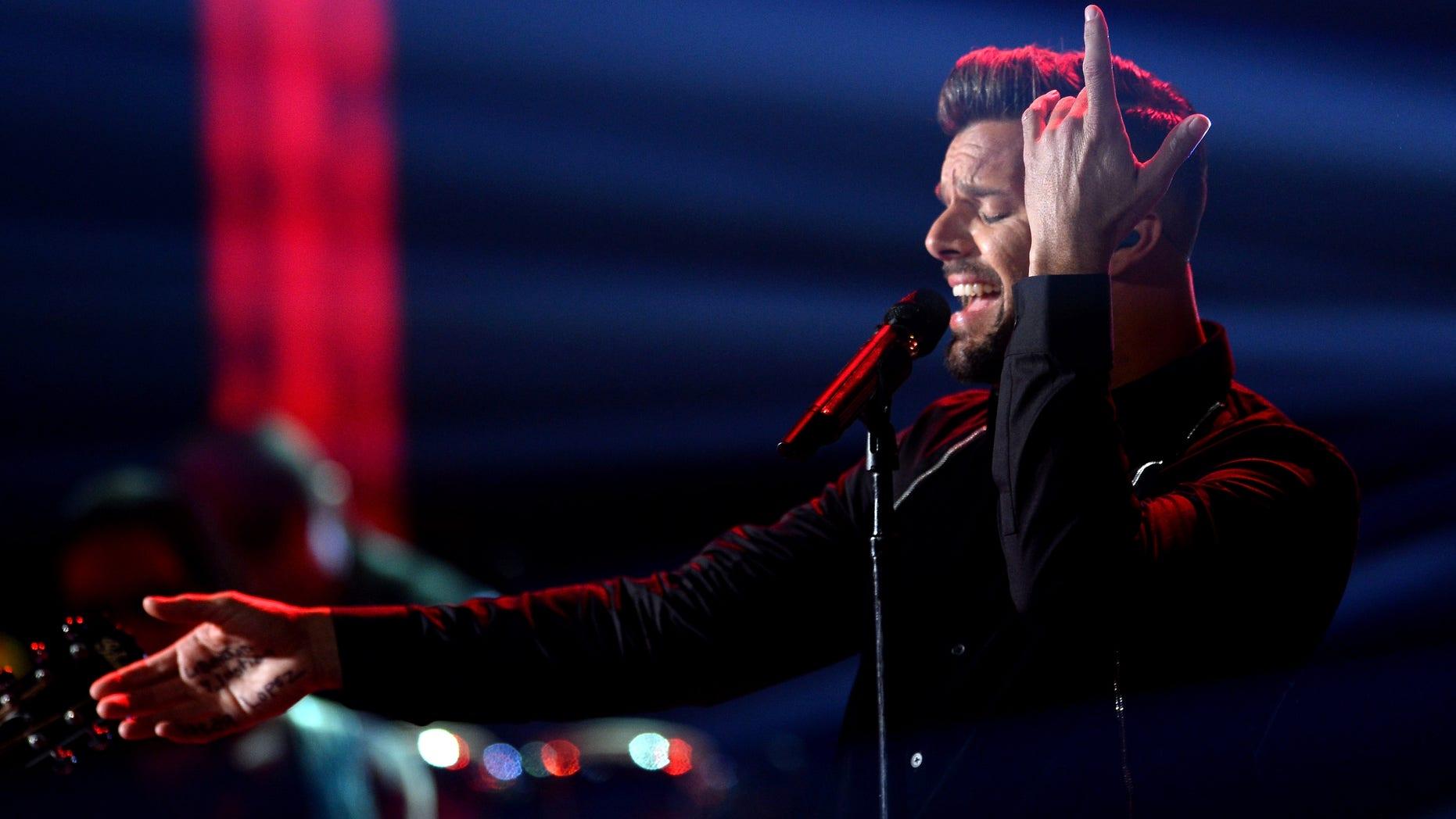 Ricky Martin during the GRAMMY Awards on November 21, 2013 in Las Vegas, Nevada.