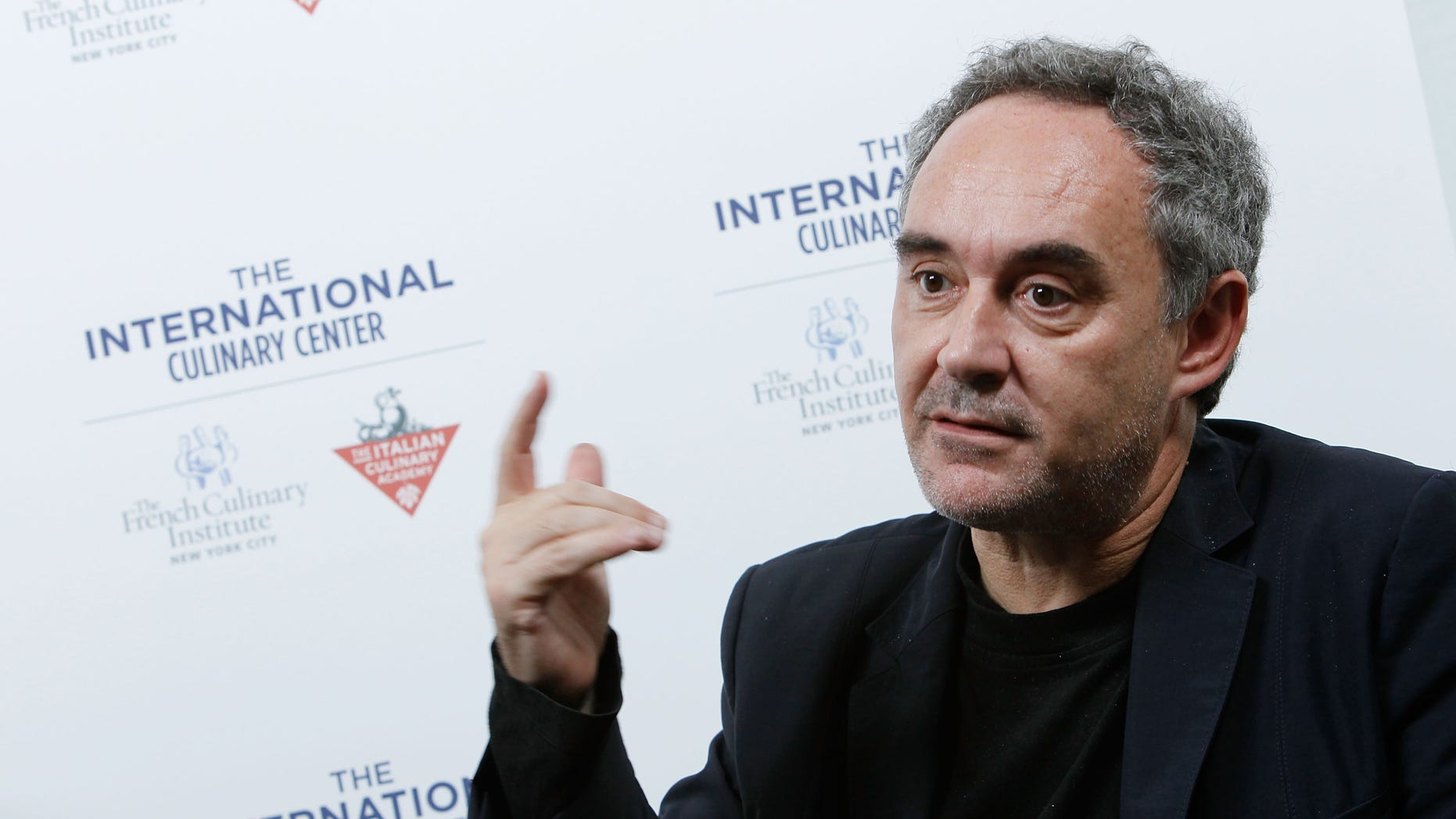 NEW YORK - OCTOBER 12:  Chef Chef Ferran Adria speaks at The International Culinary Center on October 12, 2010 in New York City.  (Photo by Mark Von Holden/Getty Images for The International Culinary Center)