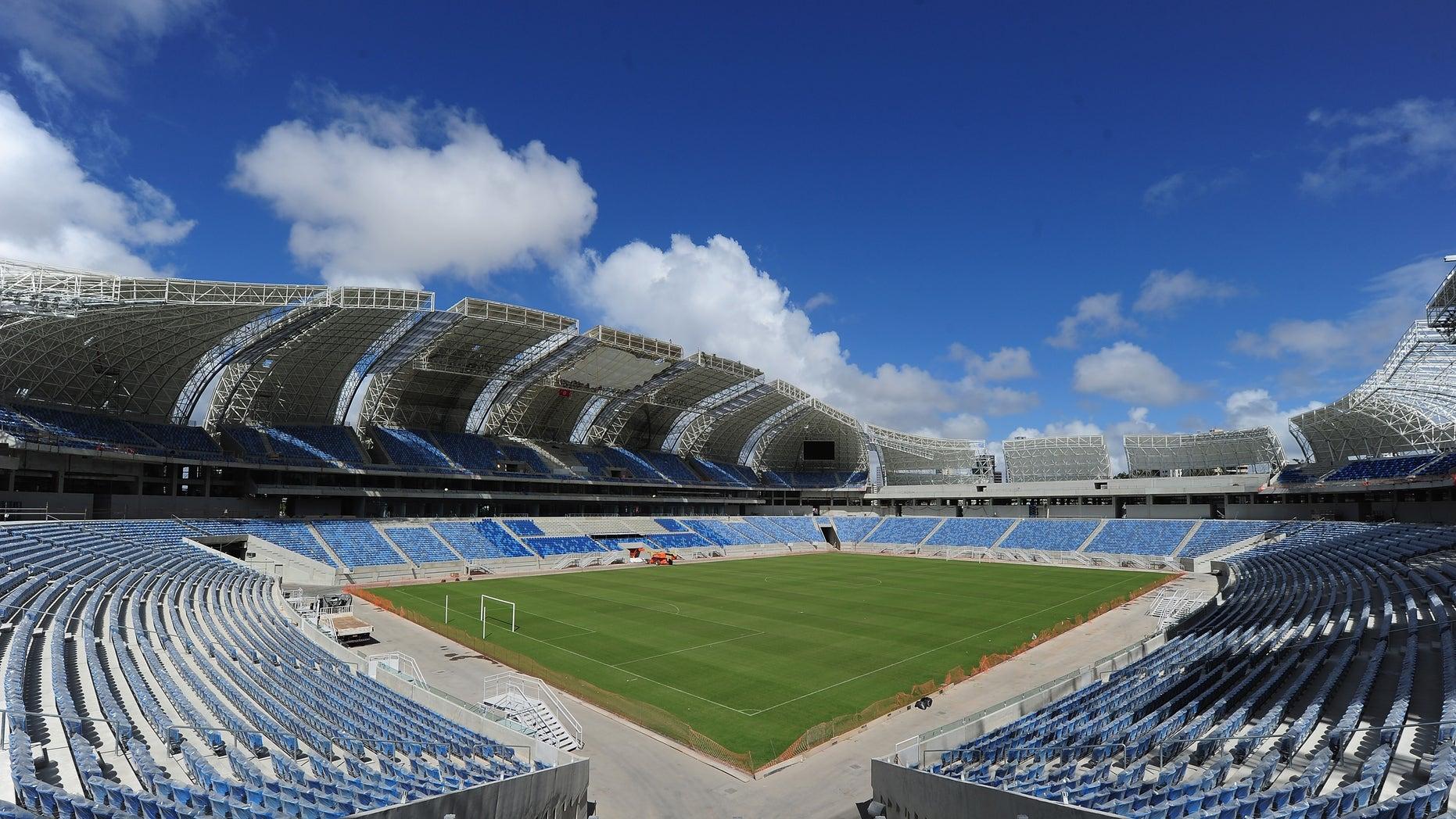 The Arena Das Dunas venue on December 8, 2013 in Natal, Brazil.
