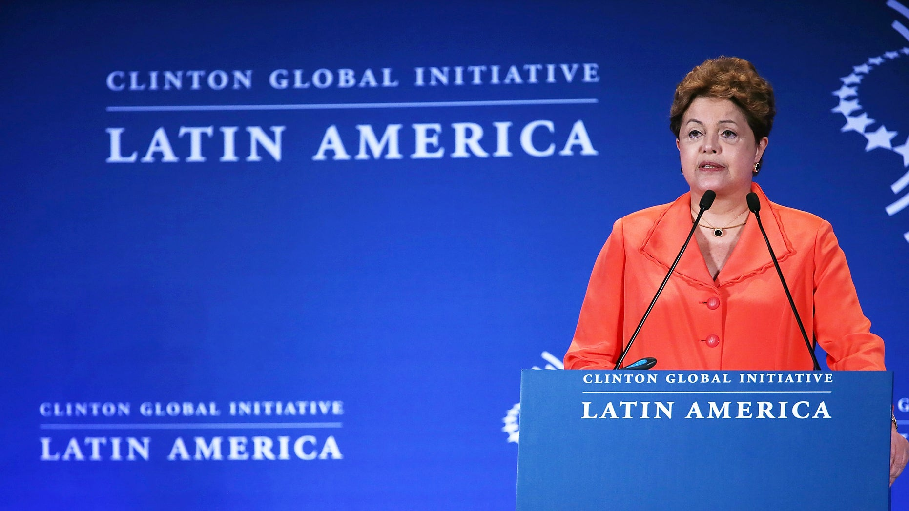 Rousseff at the Clinton Global Initiative Latin America meeting on December 9, 2013 in Rio de Janeiro, Brazil.