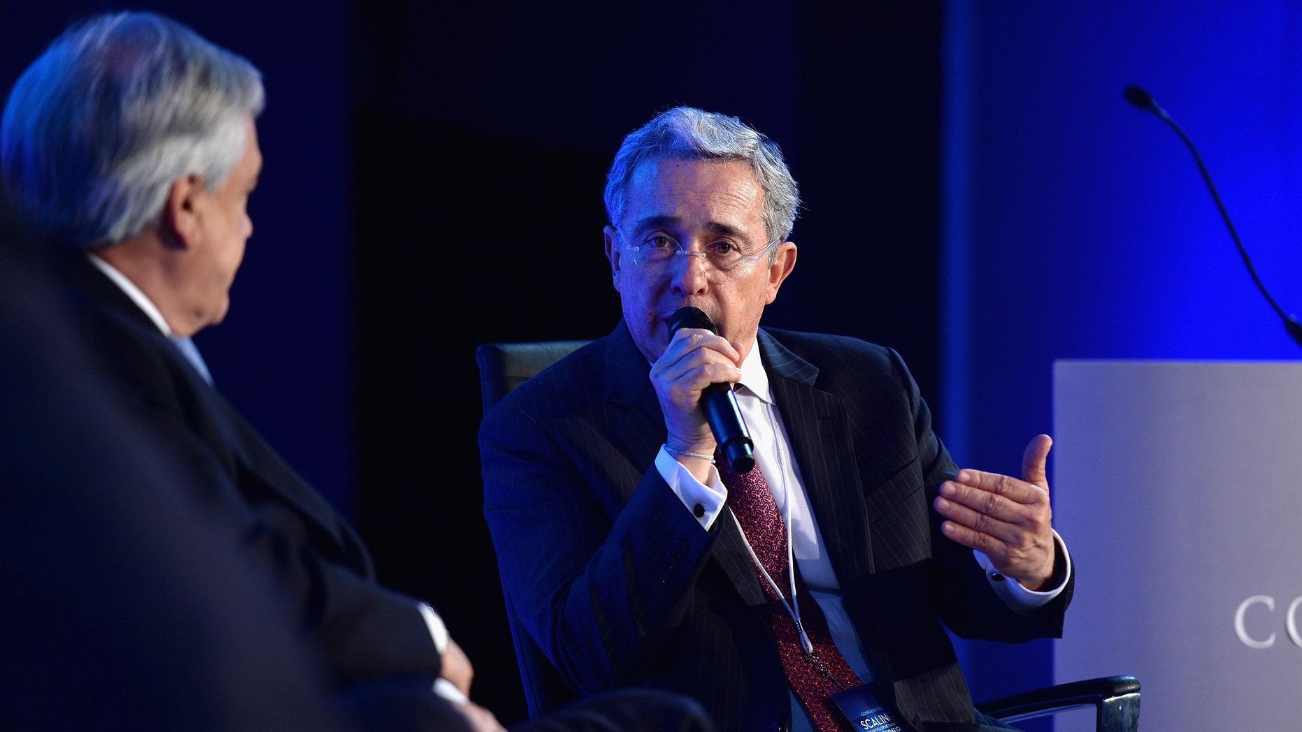 Former President of Colombia, Alvaro Uribe Velez.