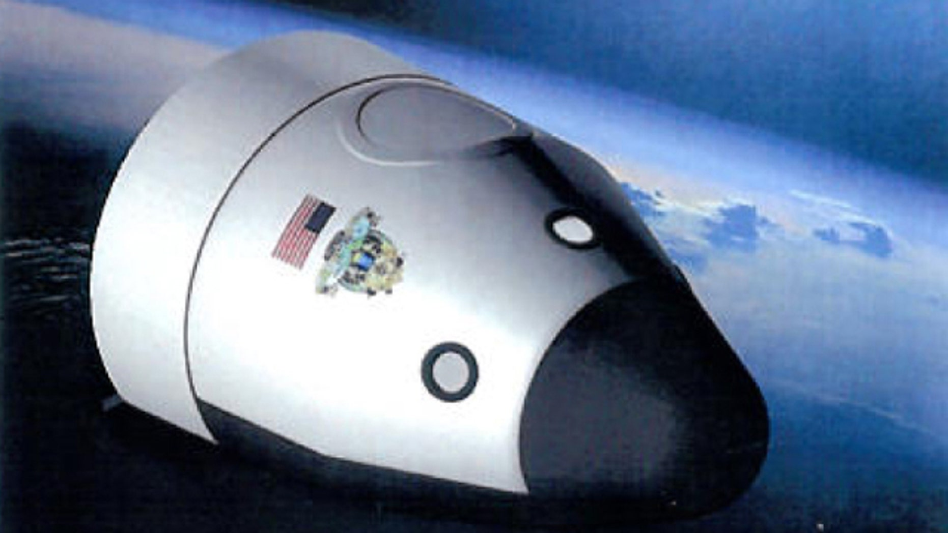 An artist's illustration of the orbital crew-carrying spaceship planned by the private company Blue Origin.