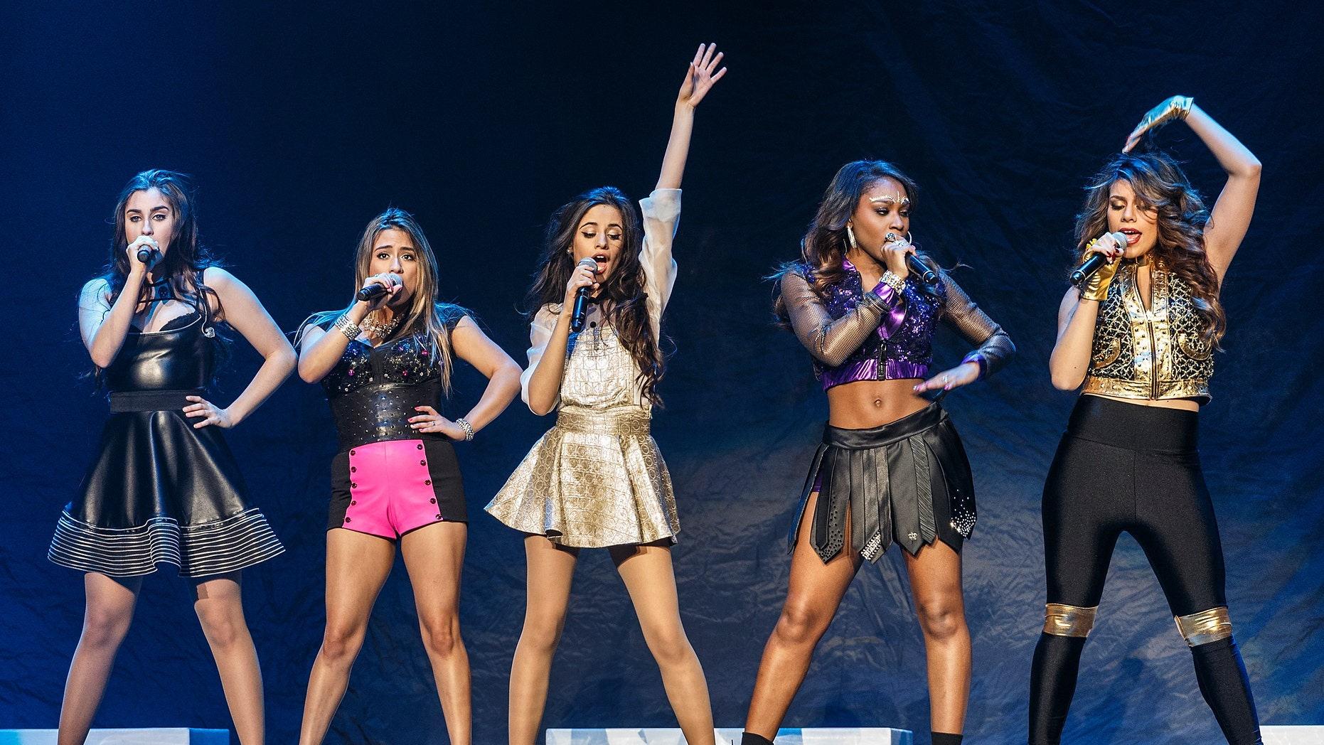 Fifth Harmony opens for Demi Lovato on February 9, 2014 in Vancouver, Canada.