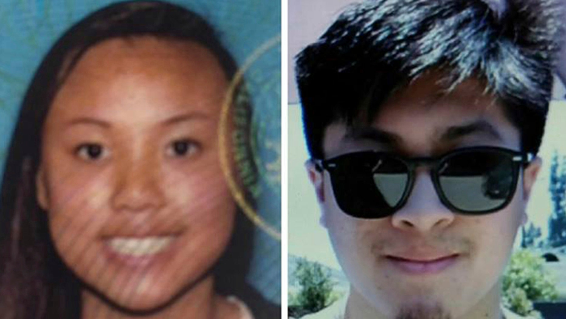 Investigators say Joseph Orbeso, right, shot and killed Rachel Nguyen in Joshua Tree National Park before turning the gun on himself