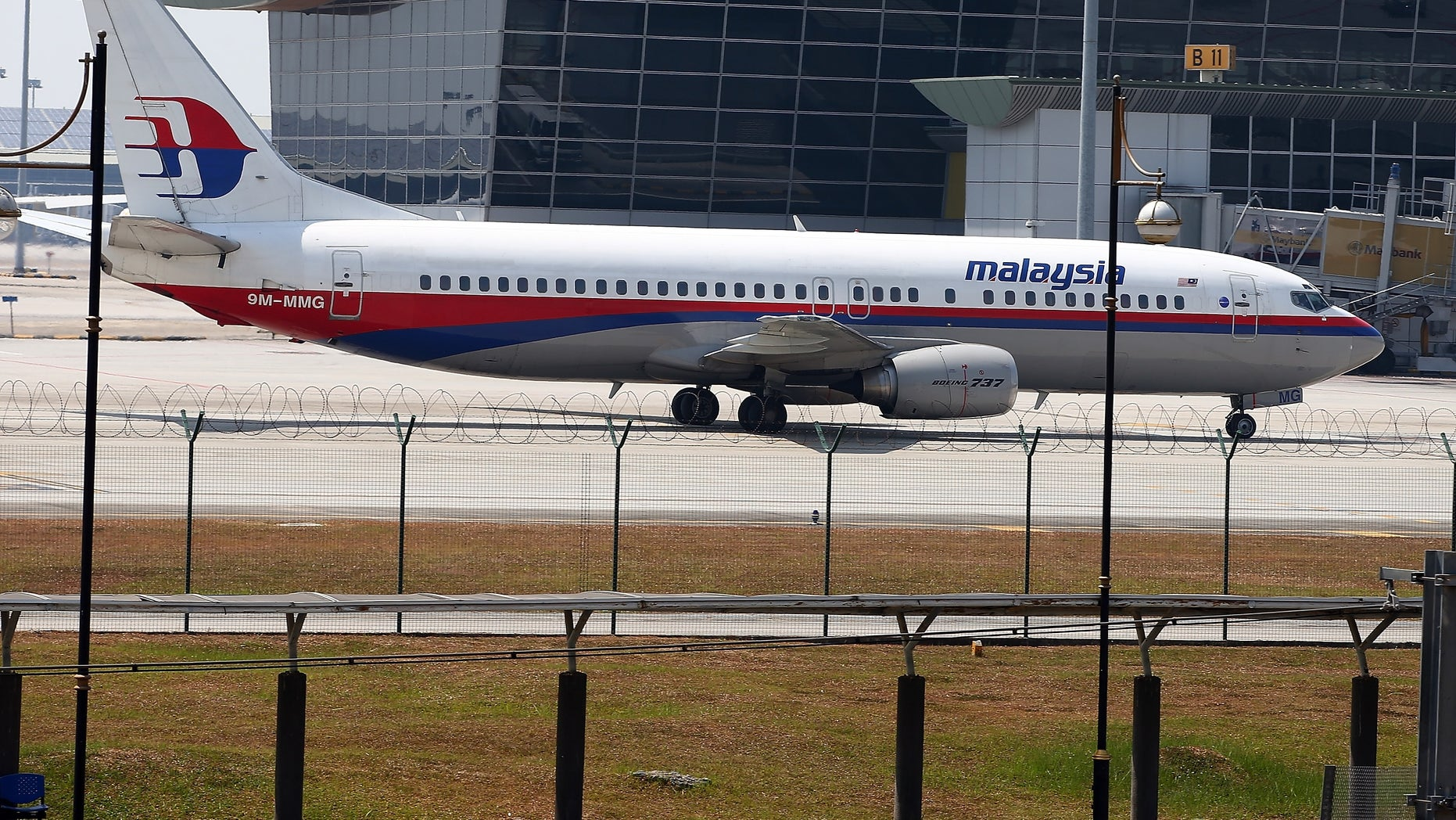A Malaysia Airline jet parked on the tarmac at the Kuala Lumpur International Airport on March 8, 2014.