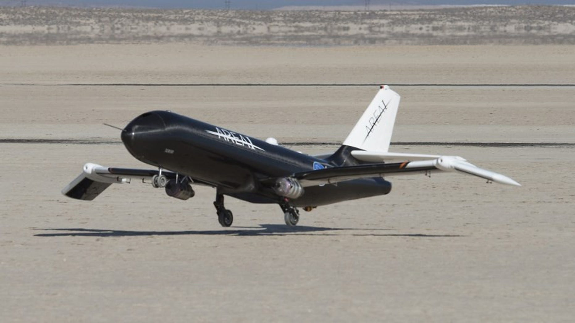 NASA used a remotely-controlled flight testbed called Prototype Technology-Evaluation Research Aircraft, or PTERA, to test the shape memory alloy. PTERA was designed and built by Area-I, and can be reconfigured to accommodate a wide variety of flight experiments. Credits: NASA / Ken Ulbrich