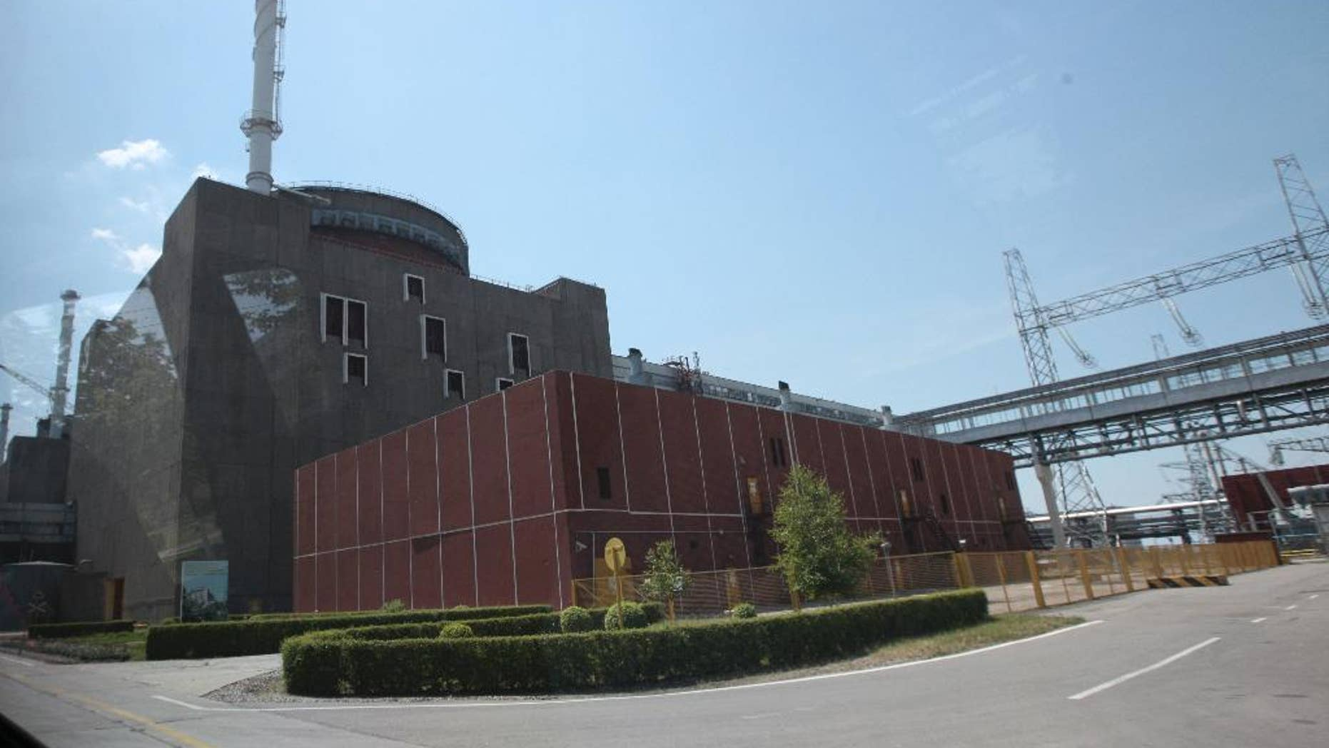 A power-generating unit at the Zaporozhiya nuclear power plant in the city of Enerhodar, in southern Ukraine, June 12, 2008. Ukrainian Energy Minister Volodymyr Demchishin said Wednesday that a technical fault at the plant earlier this week has caused a drop in output, but that the incident poses no danger. (AP Photo/Olexander Prokopenko)