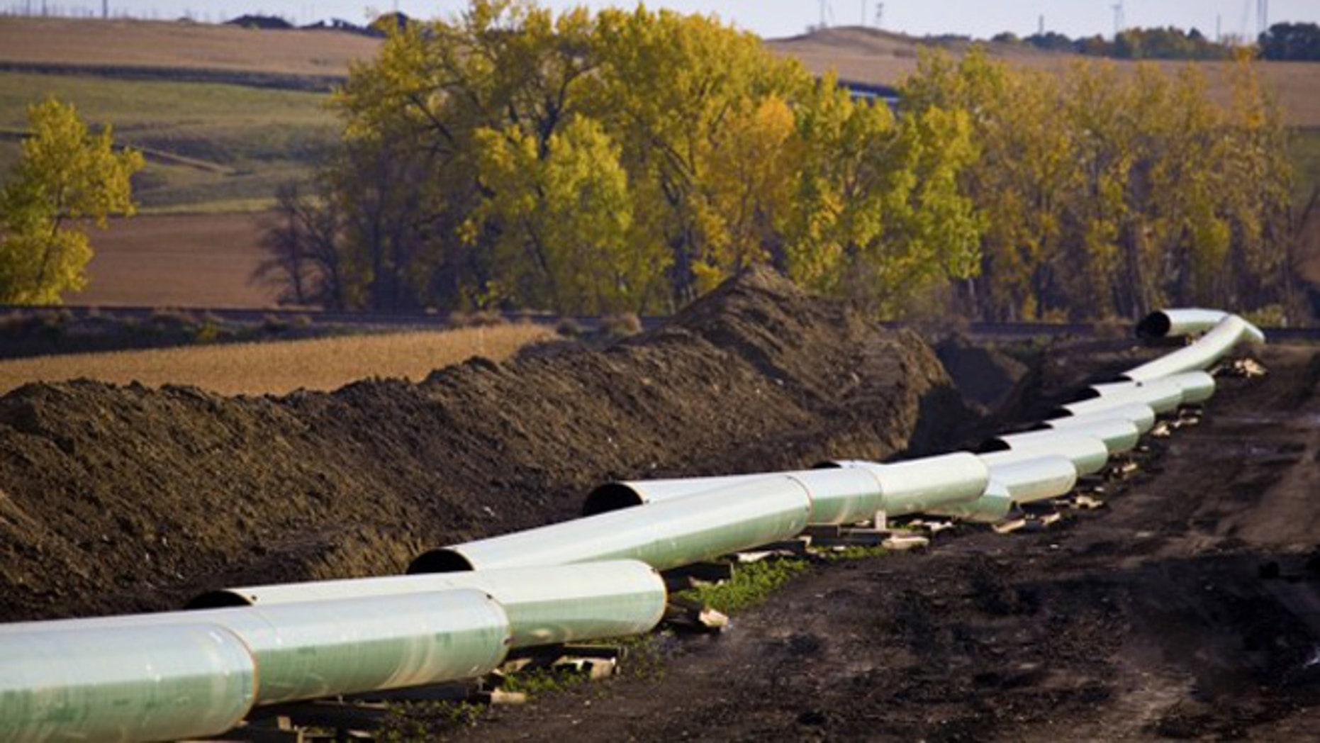 Shown here is a section of the Keystone Pipeline in North Dakota.