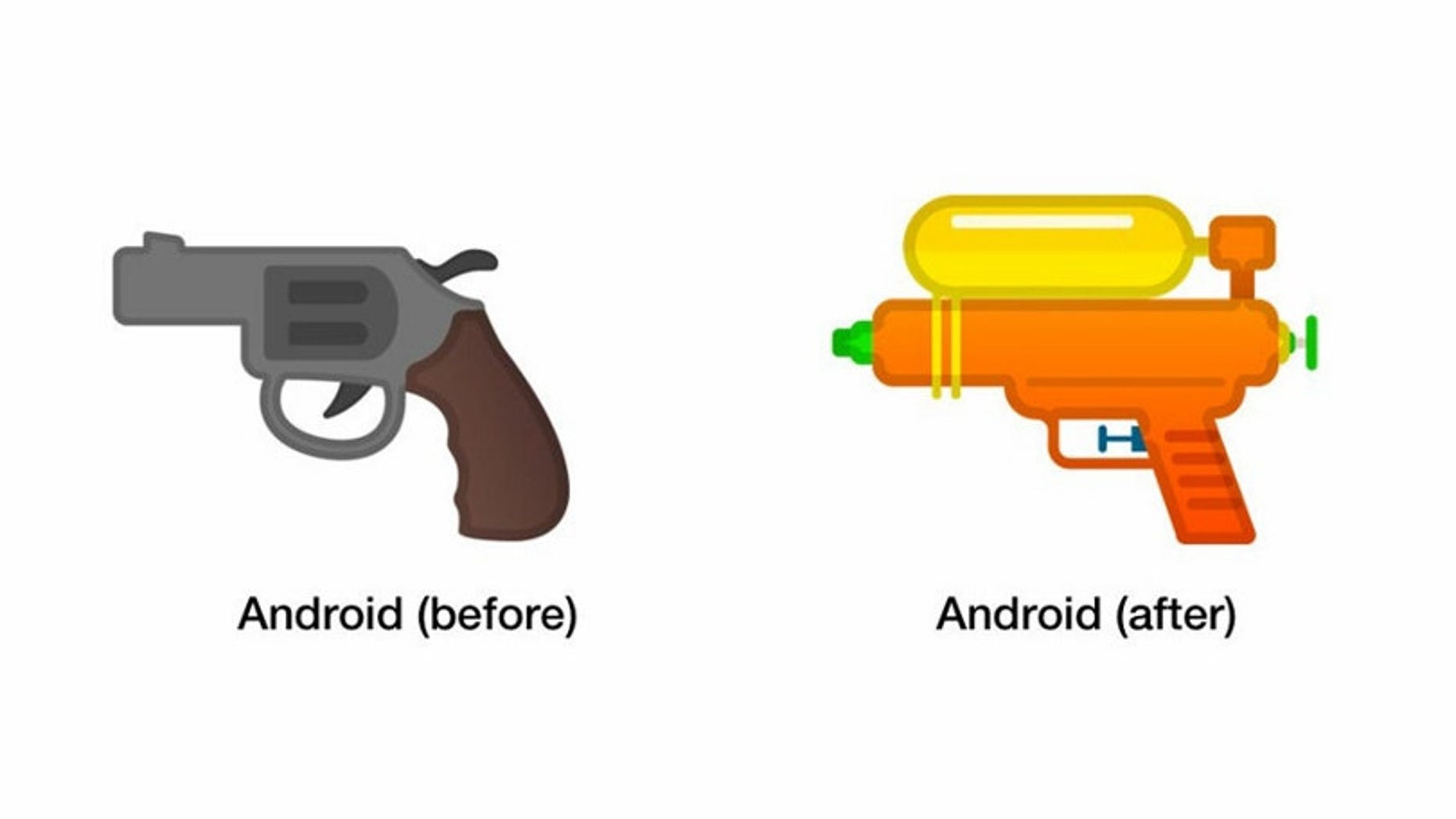 Google Swaps Gun Emoji For A Water Pistol Fox News