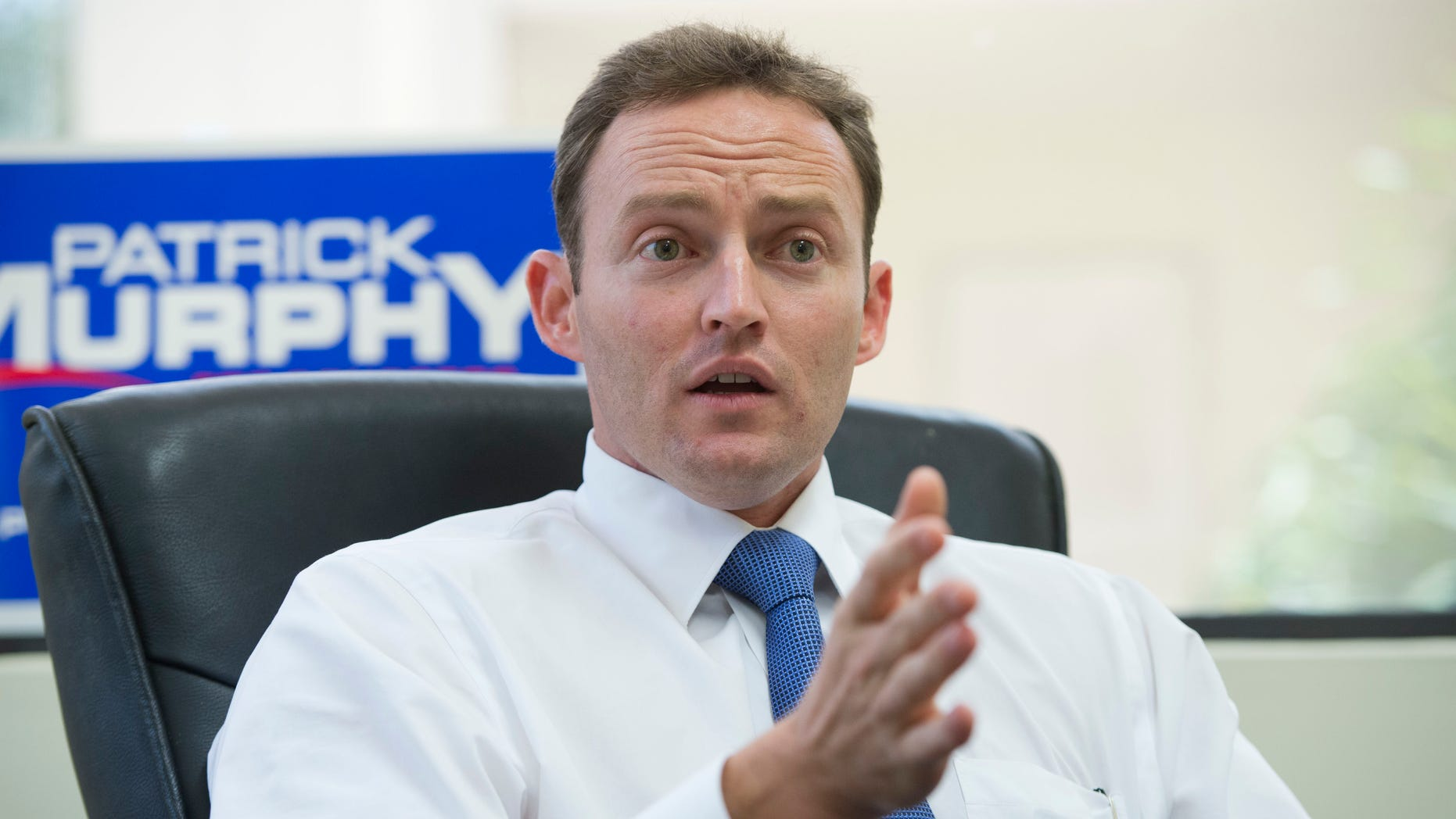 UNITED STATES - AUGUST 23:  Patrick Murphy, democratic candidate in Floridaââ¬â¢s 18th District, is interviewed by Roll Call in his Palm Beach Gardens, Fla., office.  Murphy is running against Rep. Allen West, R-Fla.(Photo By Tom Williams/CQ Roll Call)