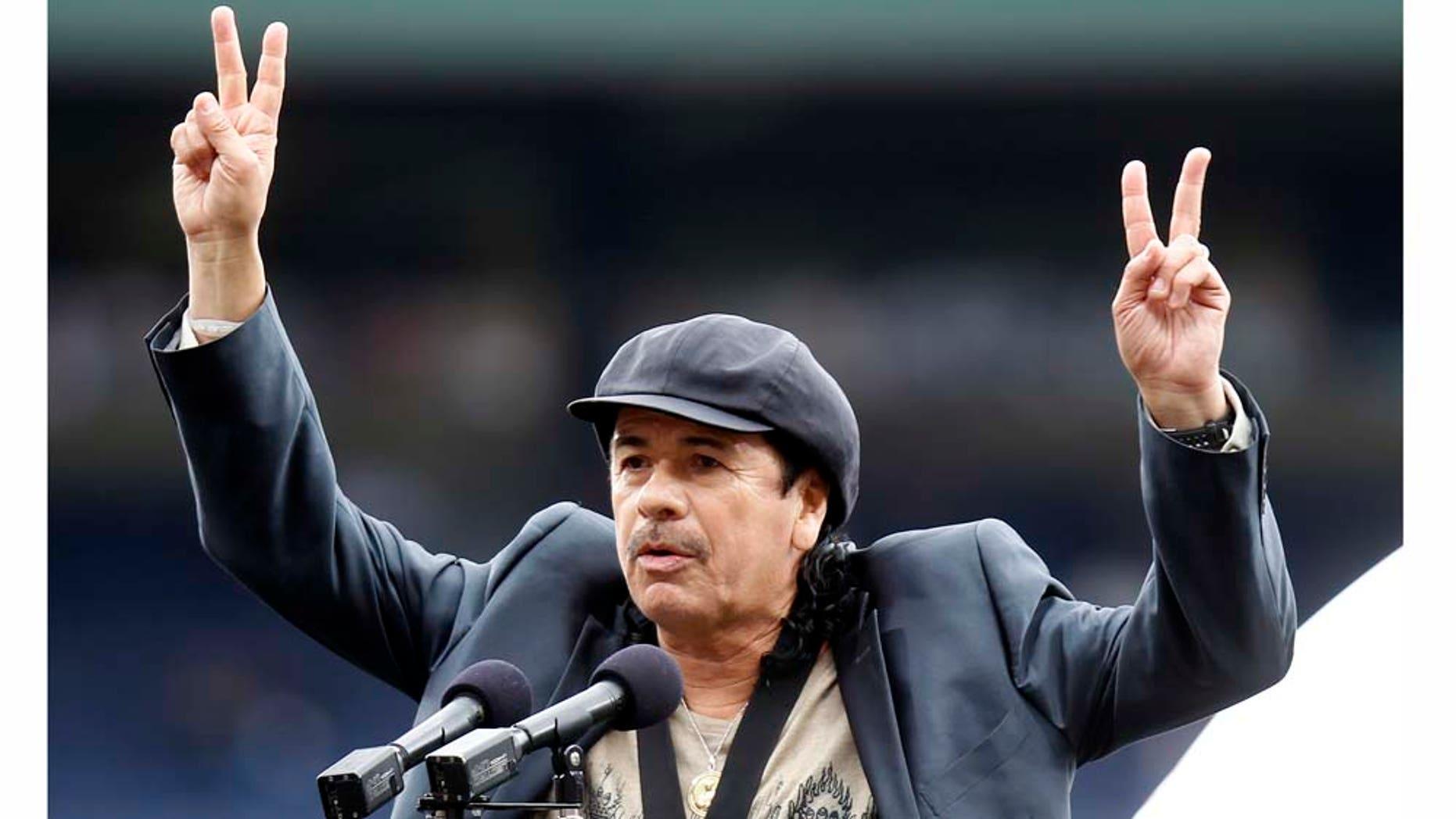 Carlos Santana was mad