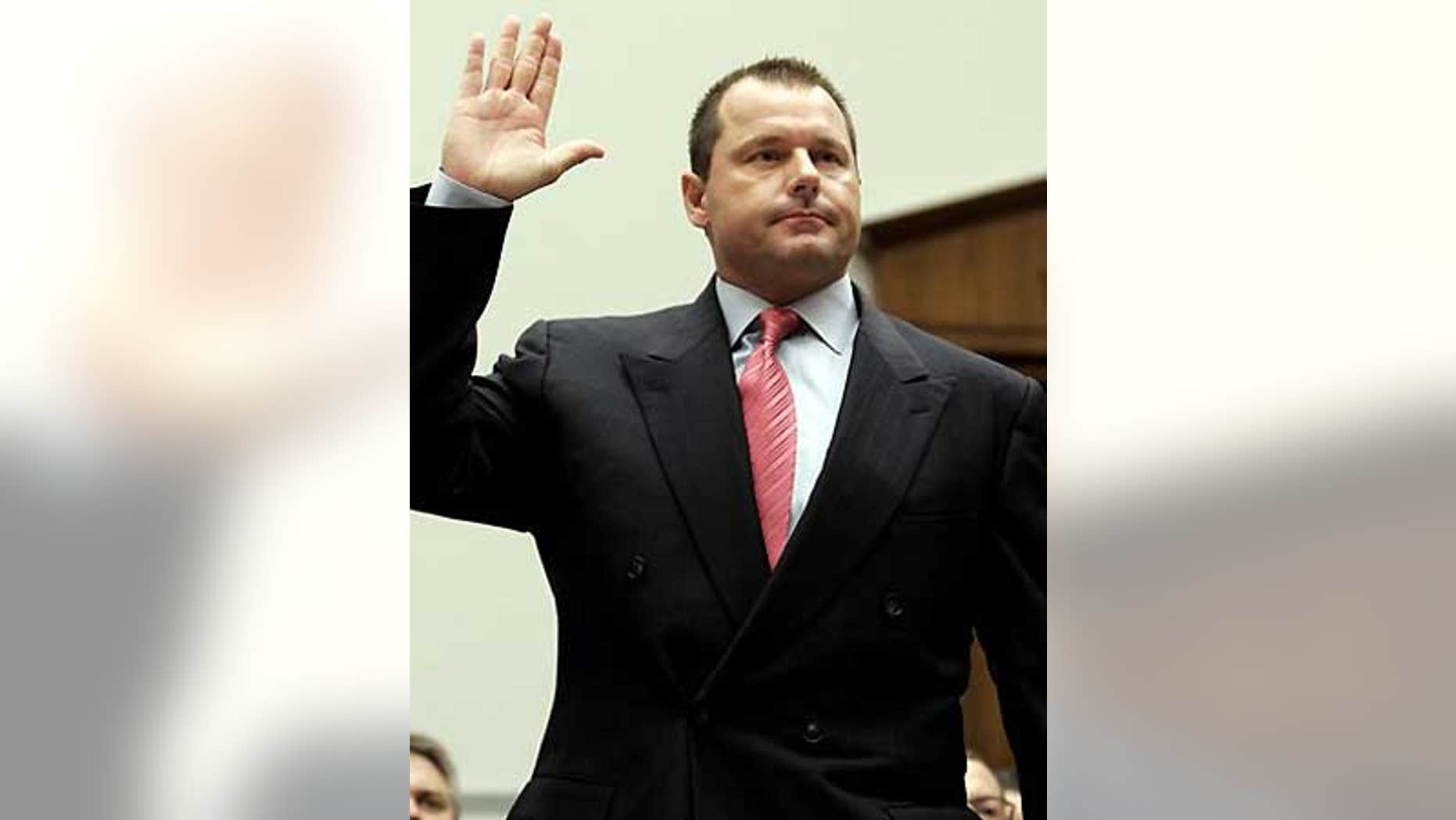 Feb. 13, 2008: Roger Clemens testifies before Congres about steroid use.