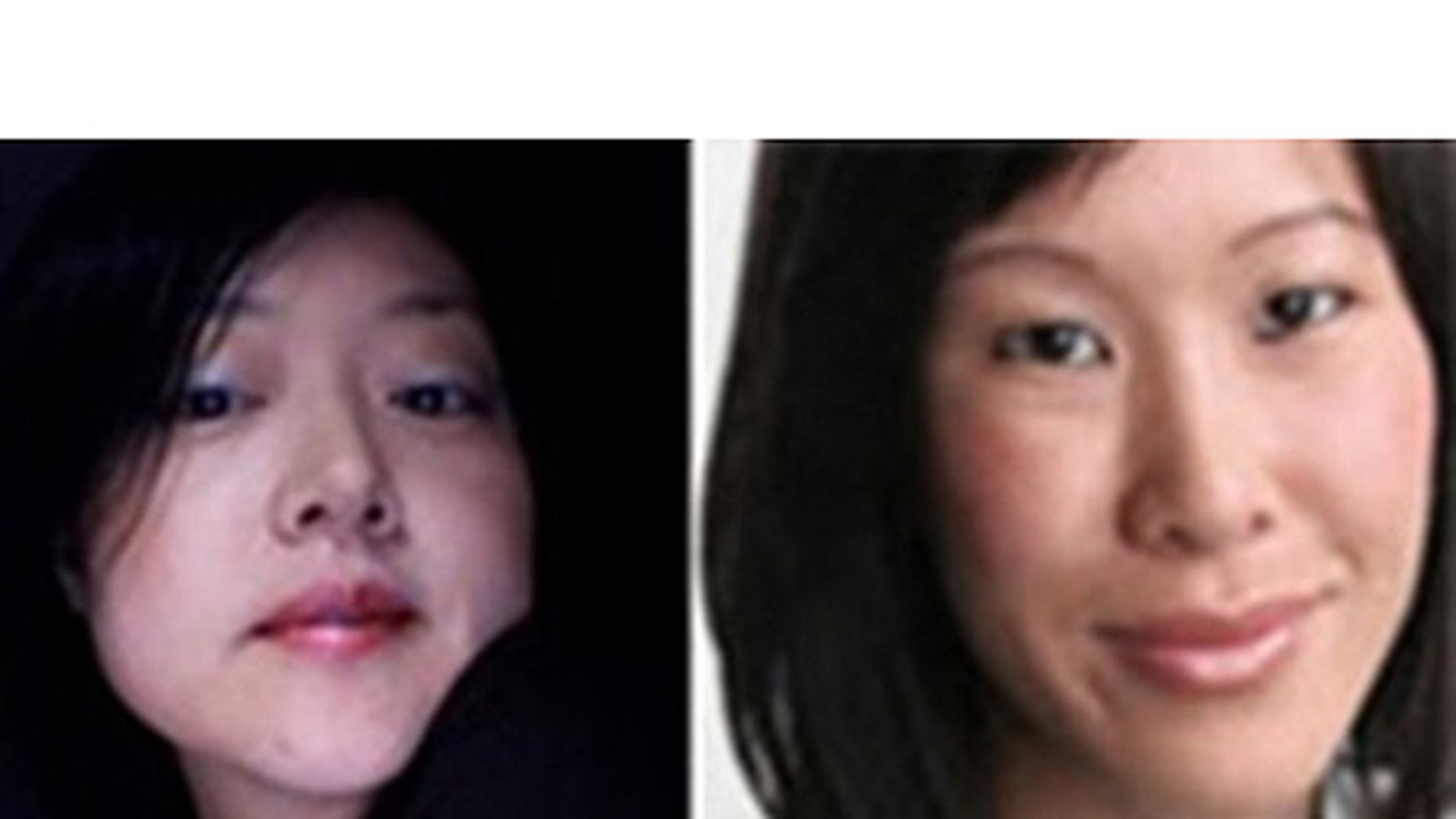 American journalists Euna Lee, left, and Laura Ling are seen in this undated image released by Yonhap news agency in Seoul.