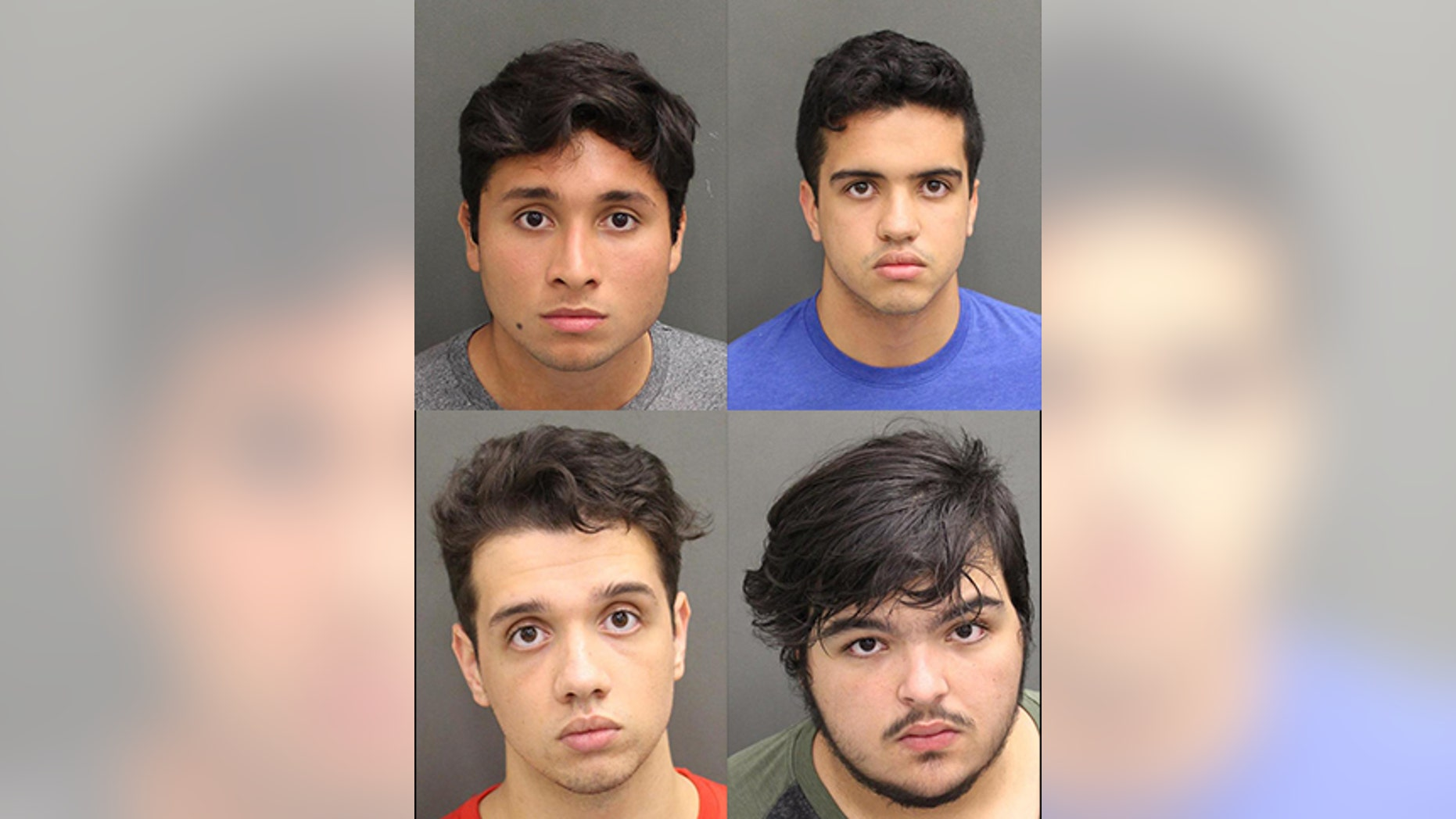 Miguel Baez Arriechi, Enrique Lopez Cosson, Manuel Zavarse and Gabriel Zavarse Cedeno have been accused of taking turns raping a woman in Orange County, Florida in May.