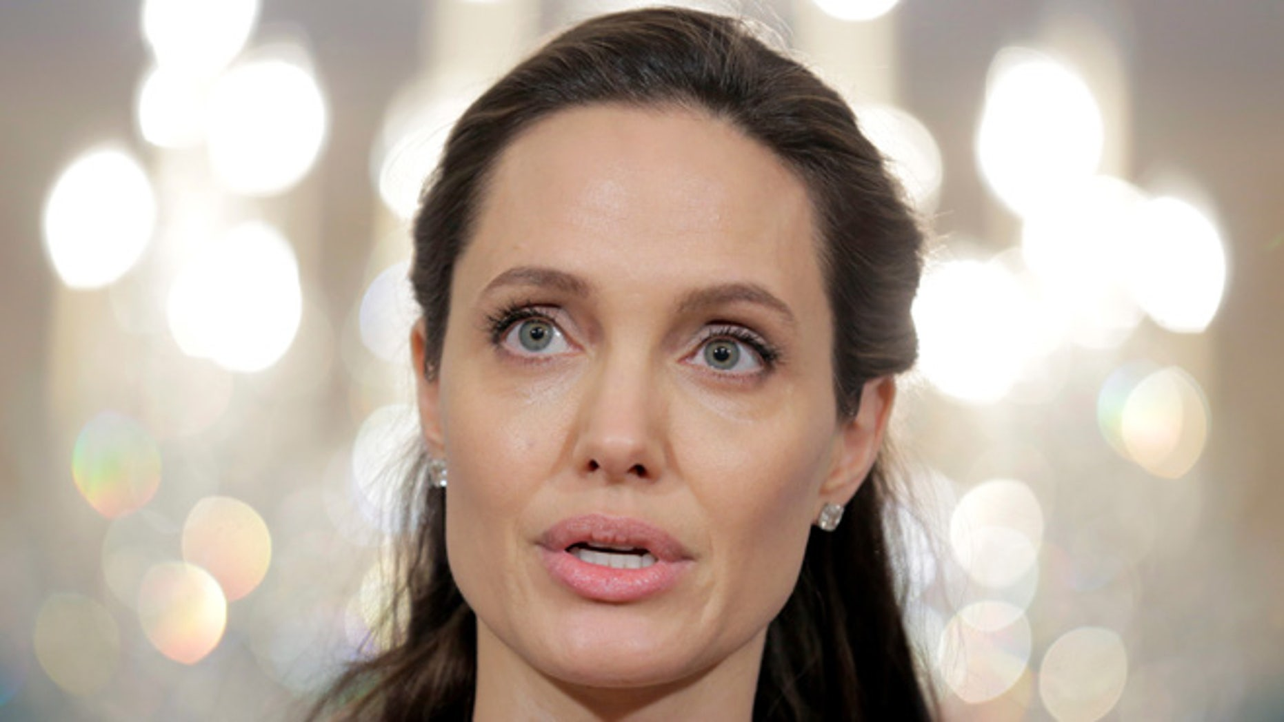 Angelina Jolie has made her first public appearance since her split from Brad Pitt.