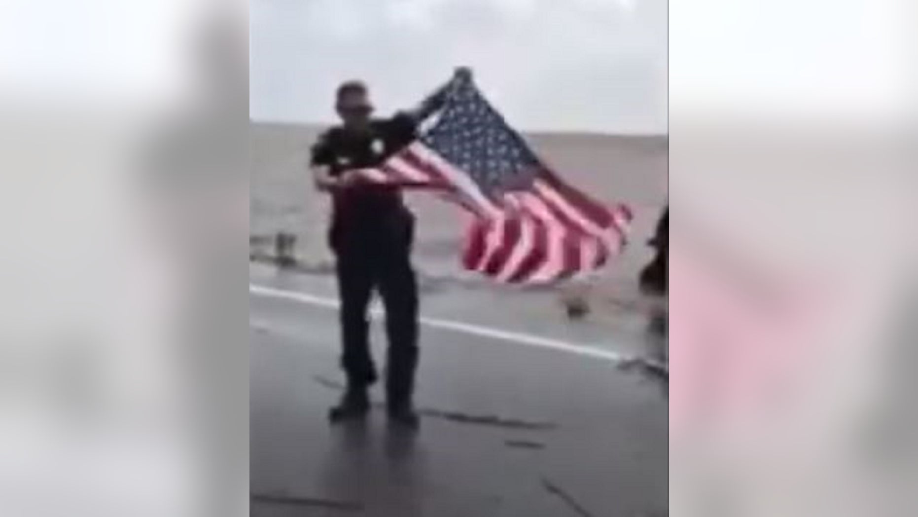 Police in Georgia posted a video of the American flag being rescued.