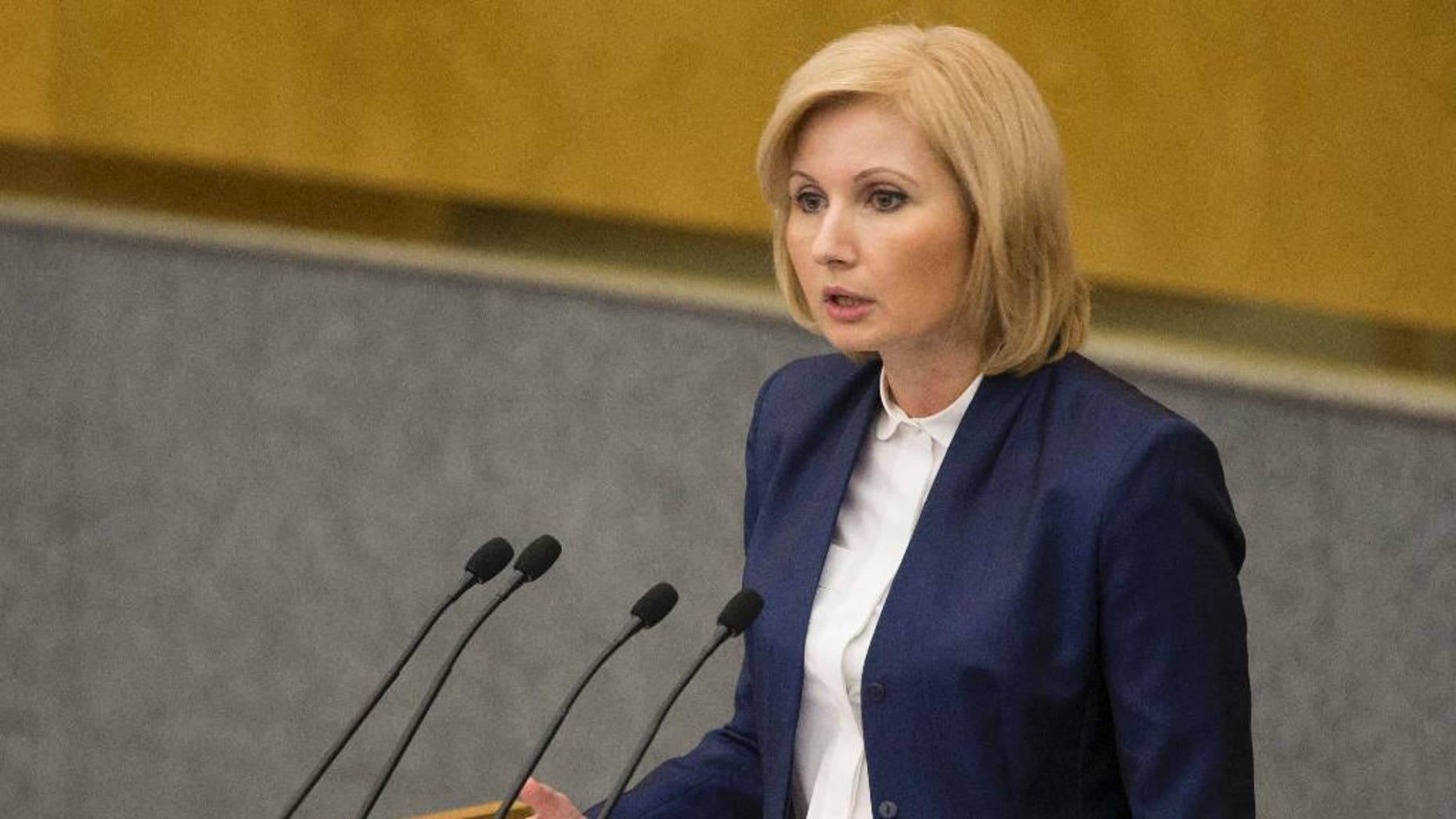 Russian lawmaker Olga Batalina, one of the bill's co-authors.