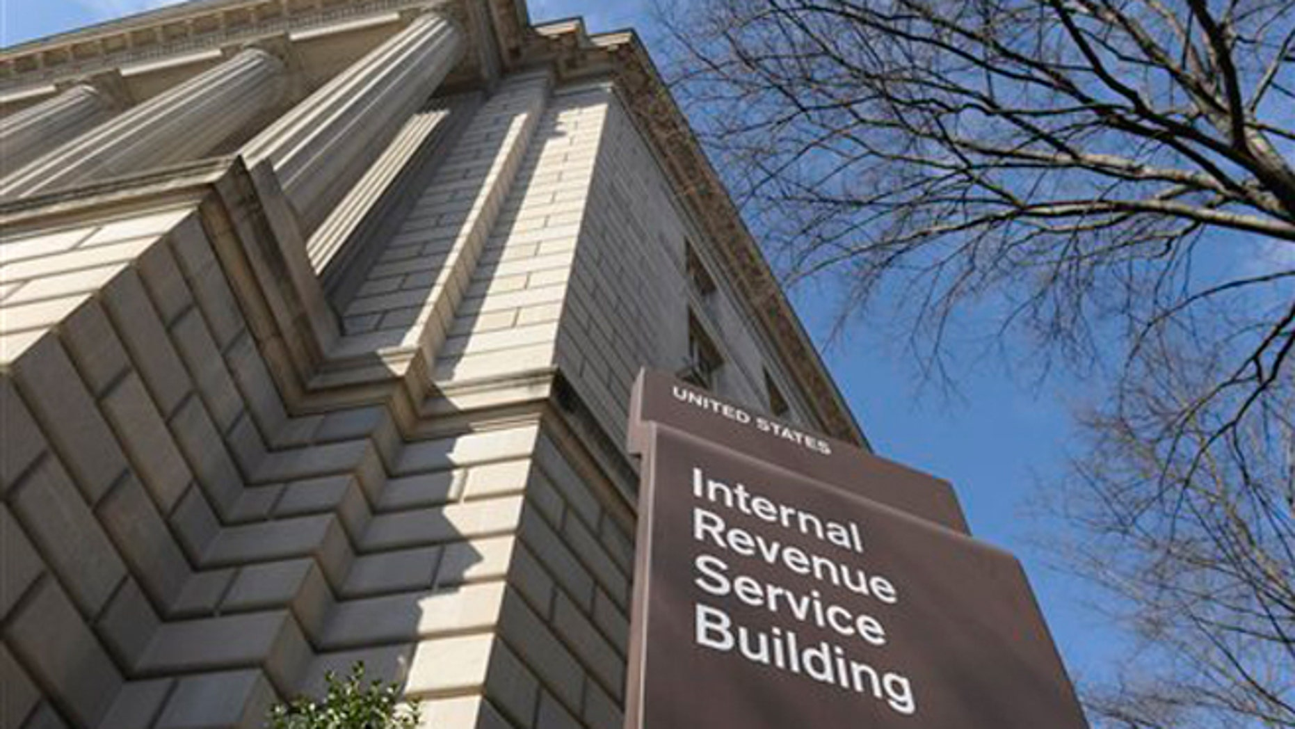FILE - March 22, 2013: Exterior of the Internal Revenue Service building in Washington.