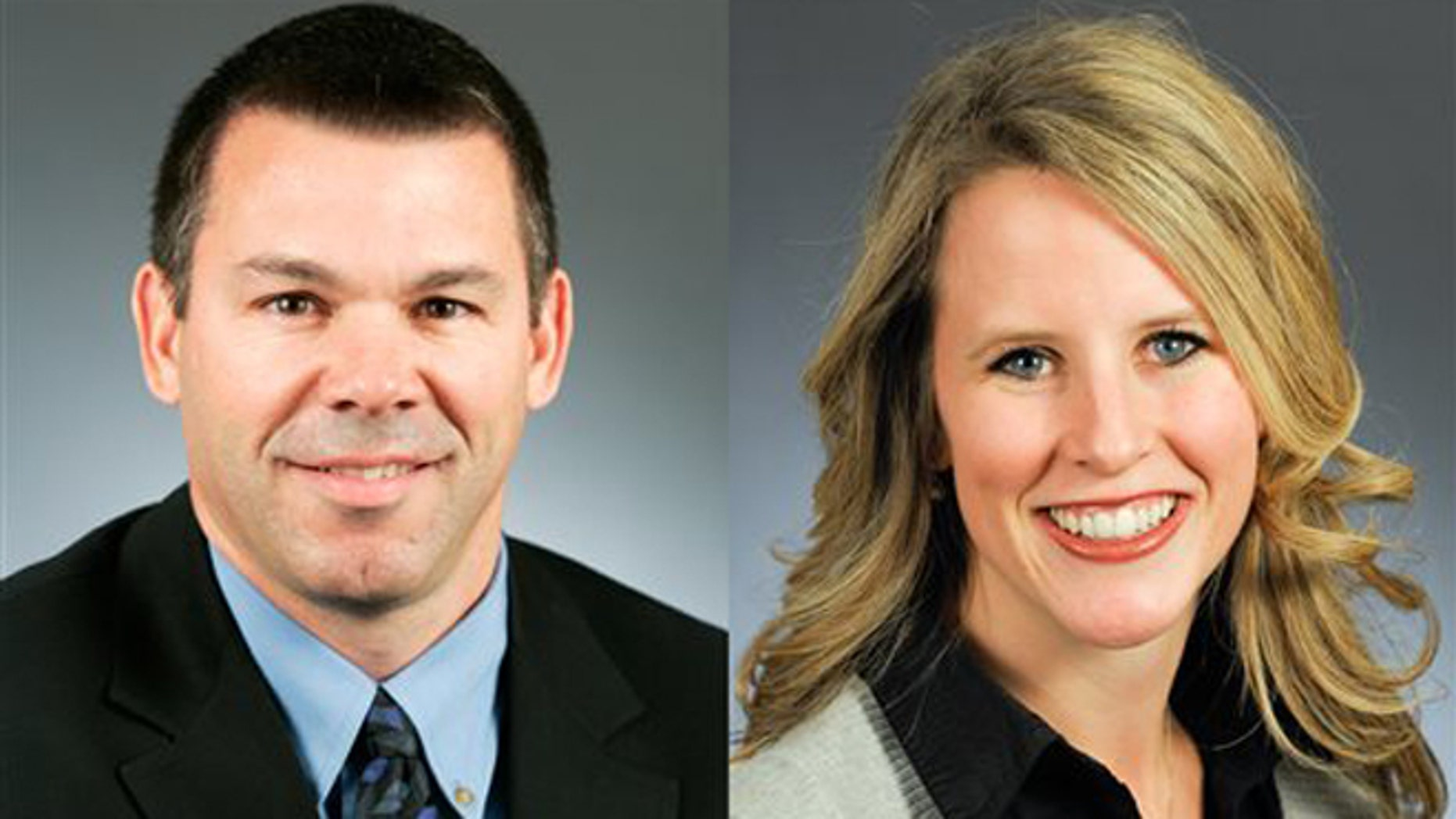 This combination of photos provided by the Minnesota House of Representatives shows Rep. Tim Kelly, R-Red Wing, left, and Rep. Tara Mack, R-Apple Valley.