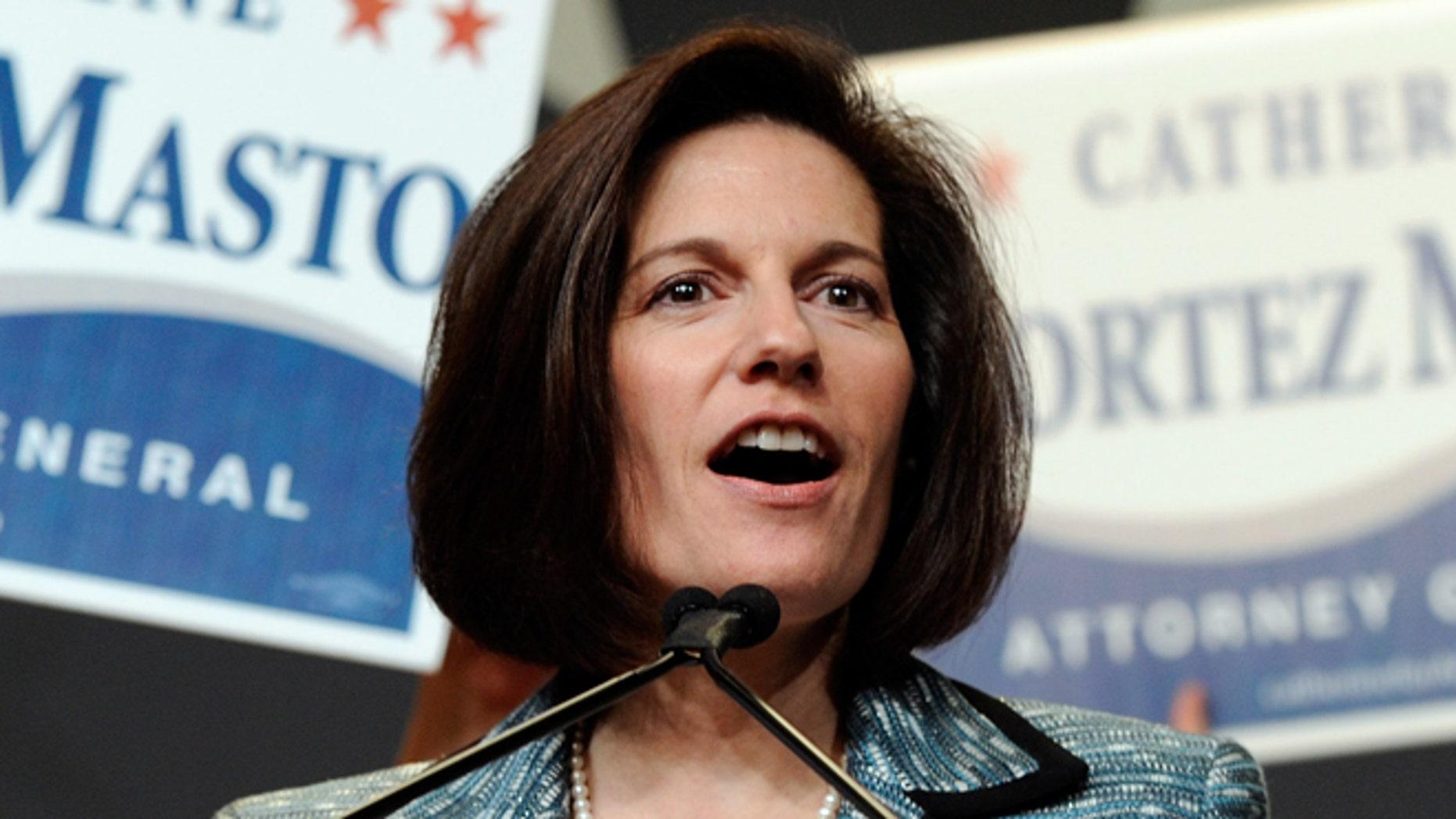 Former Nevada Attorney General Catherine Cortez Masto.