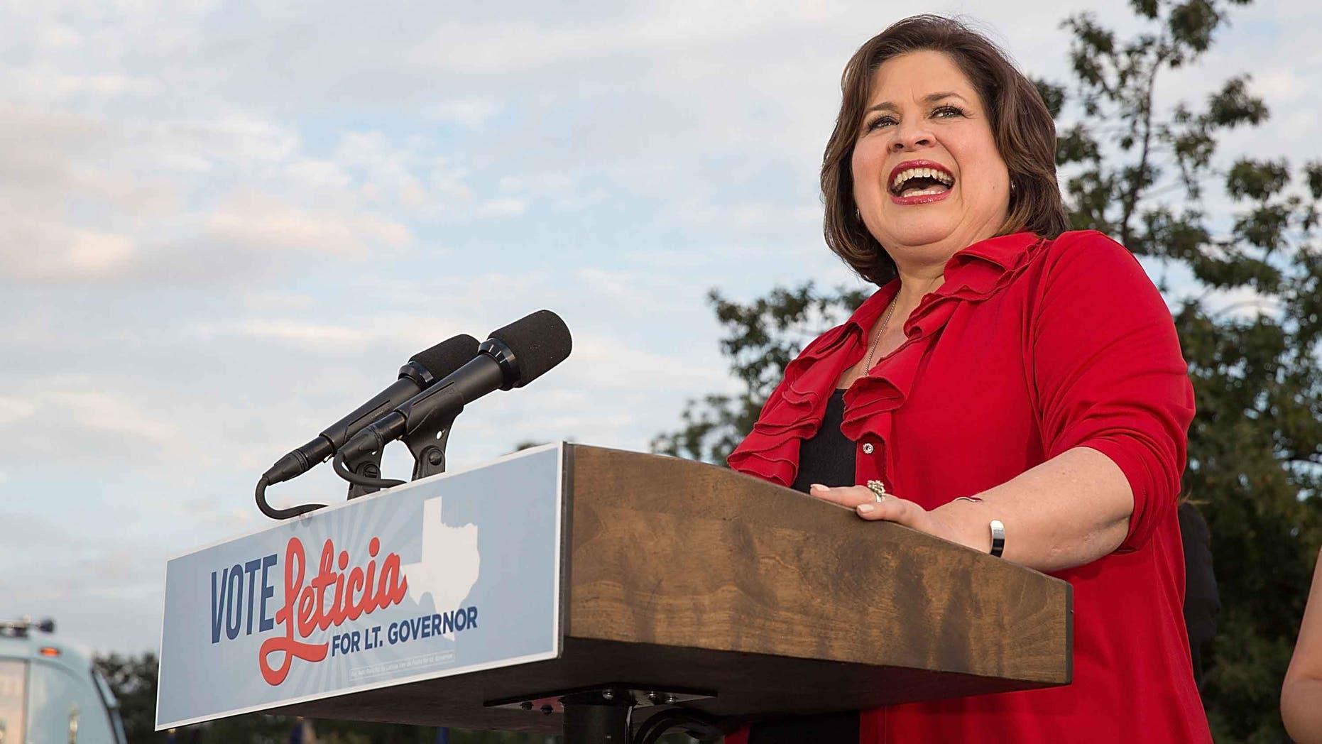 State Senator Leticia van de Putte on October 22, 2014 in San Antonio, Texas.