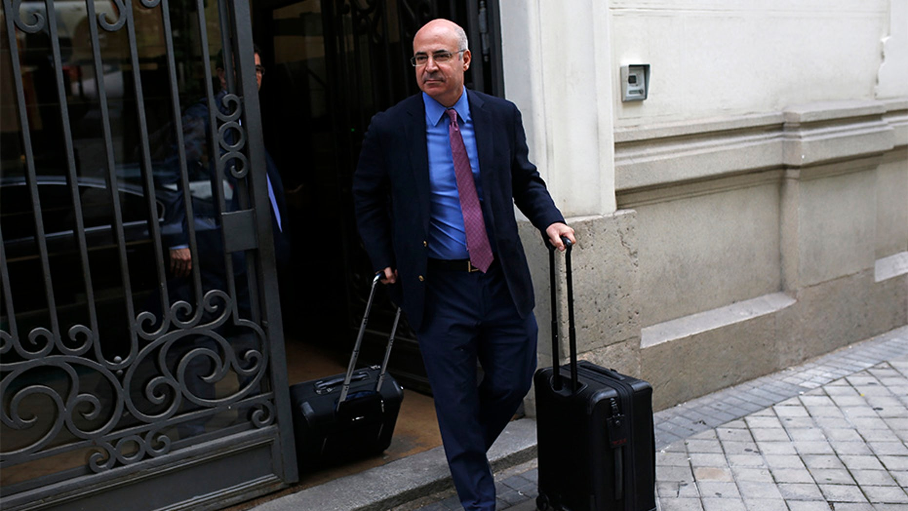 May 30, 2018: William Browder leaves the anti-graft prosecutor's office in Madrid.