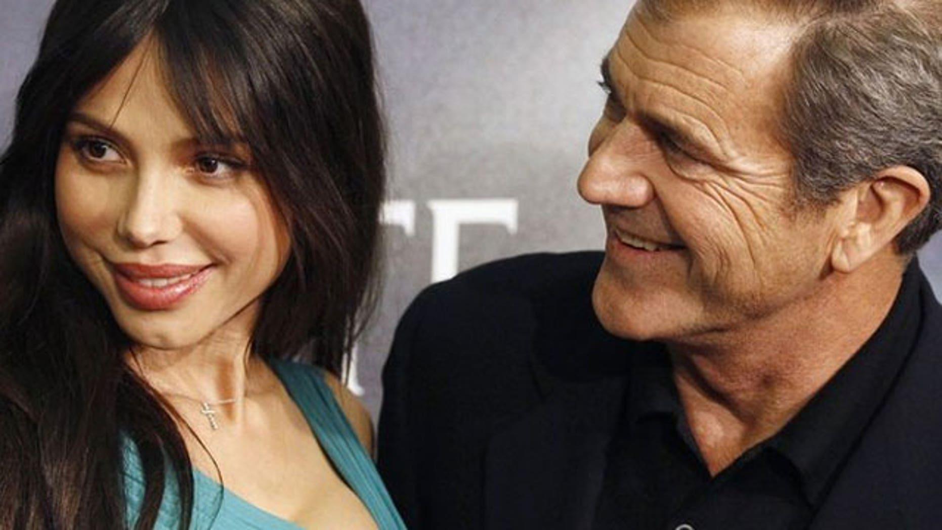 Oksana Grigorieva and Mel Gibson in happier times in 2009.