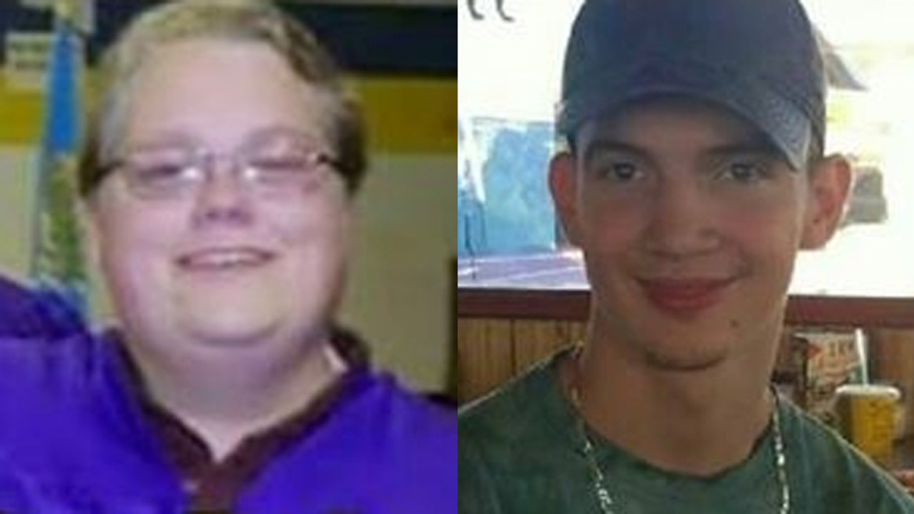 From the left, Ben Babar and Cody Parrick vanished after attending the Rocklahoma music festival.